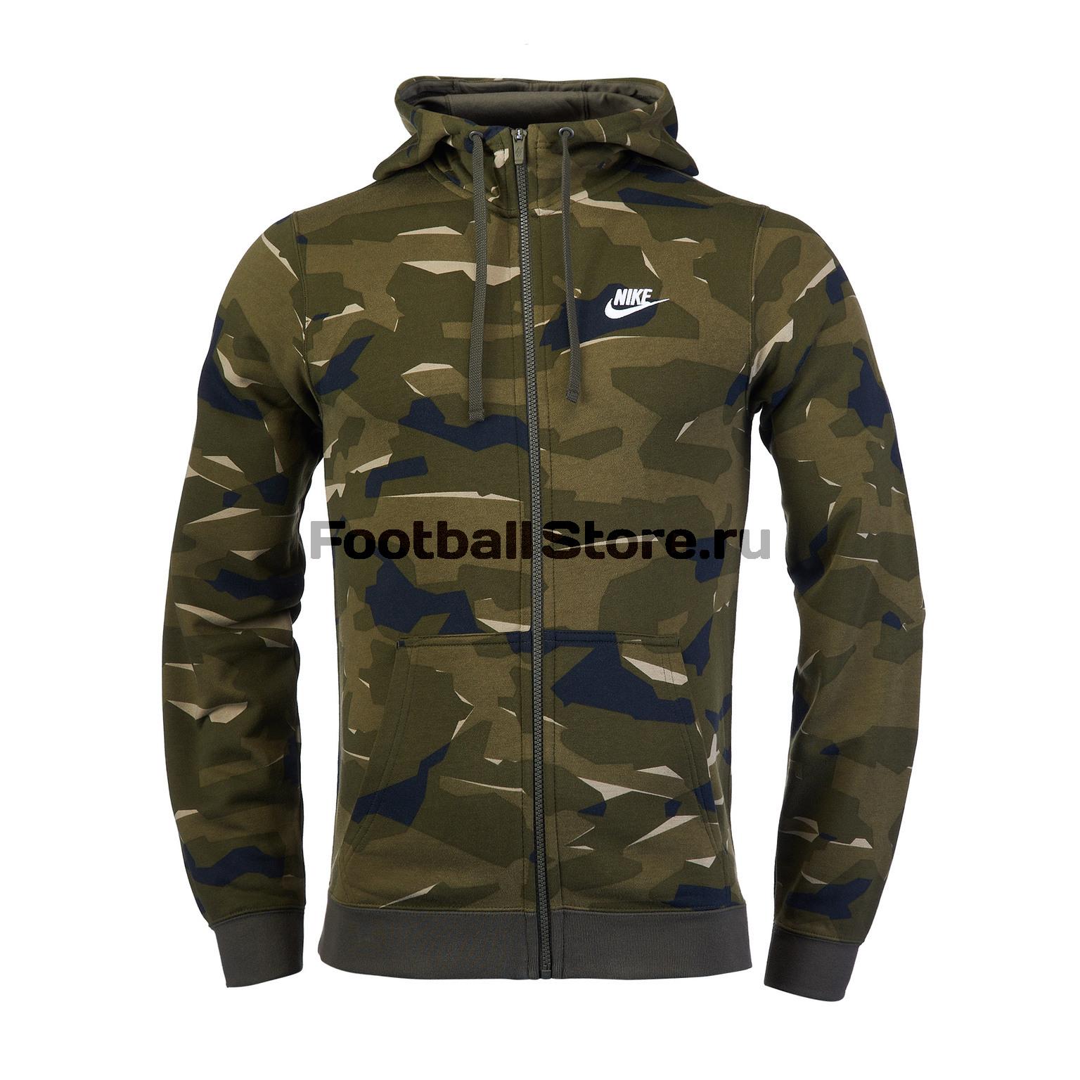Толстовка Nike Club Camo Hoodie AQ0596-325 camo print hoodie sweatshirt