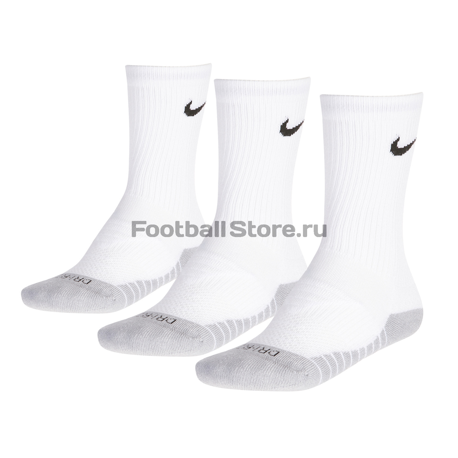 Комплект носков Nike 3PPK Dri-Fit Cushion Crew SX5547-100 комплект носков nike 3ppk cushion quarter sx4703 901