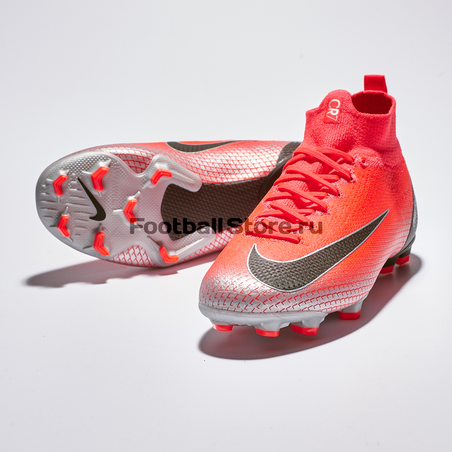 Бутсы детские Nike Superfly 6 Elite CR7 FG AJ3086-600 бутсы детские nike superfly academy gs cr7 fg mg aj3111 600