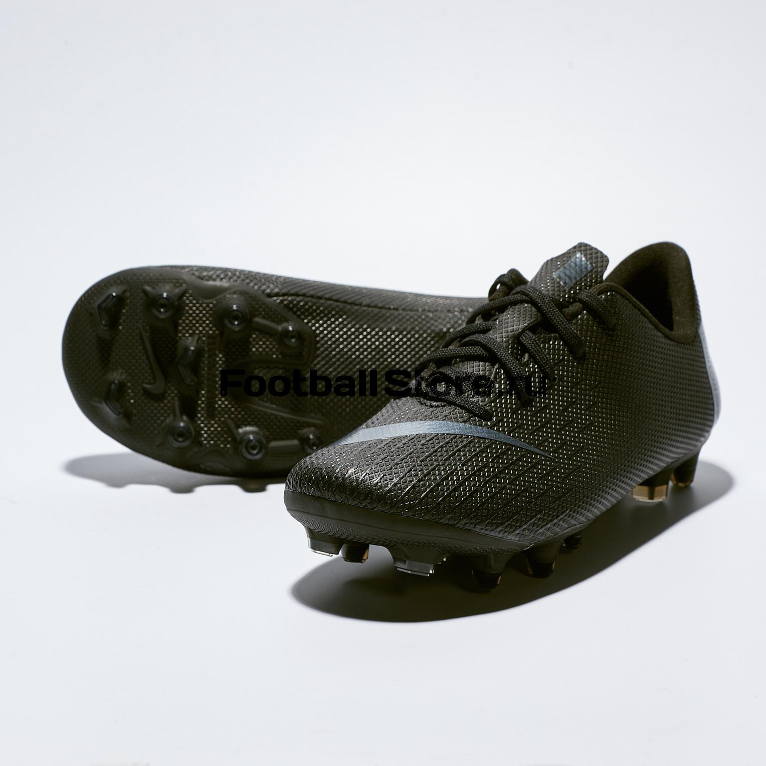 Бутсы детские Nike Vapor 12 Academy PS FG/MG AH7349-001 бутсы детские nike phantom vision academy df sg aq9298 400
