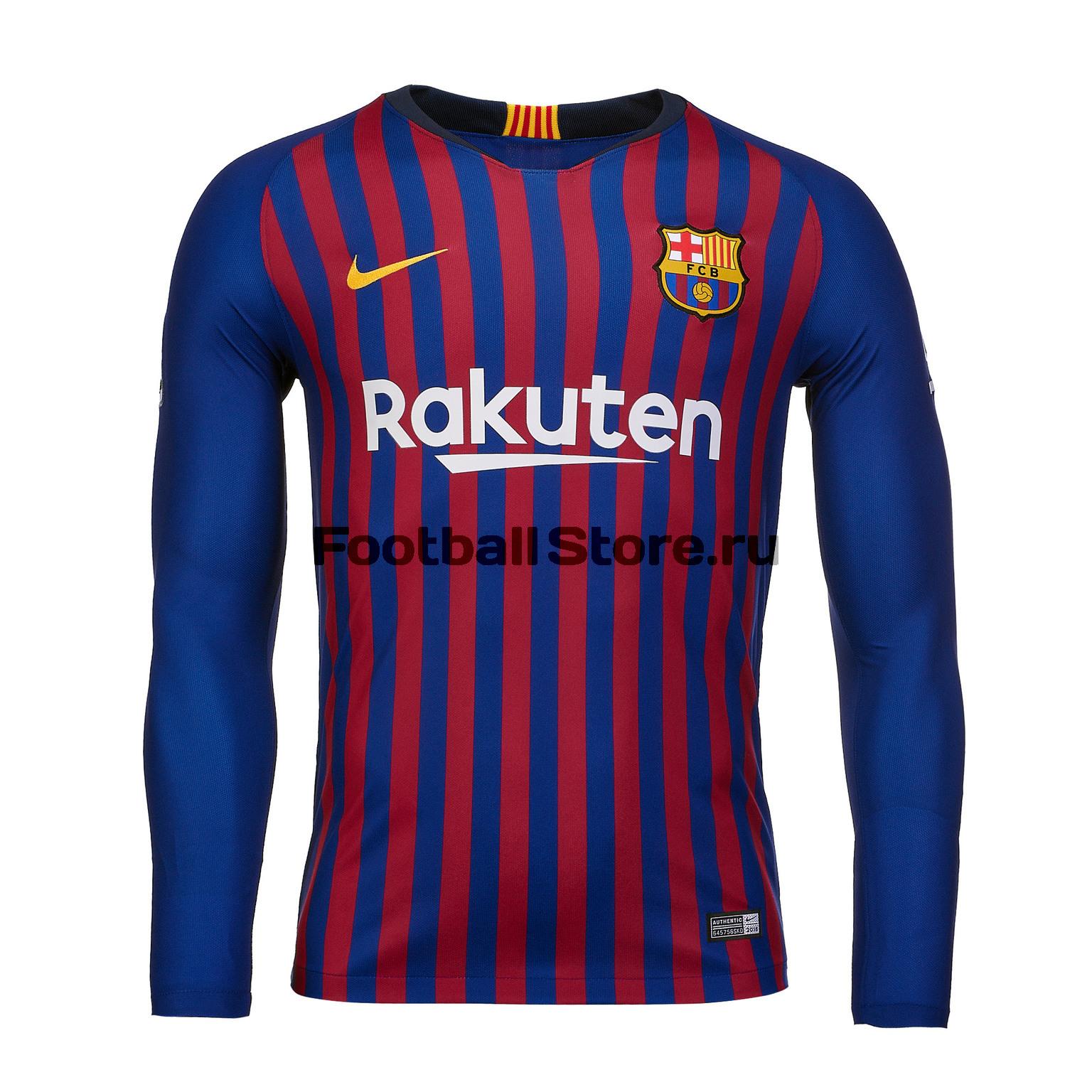 Футболка игровая домашняя Nike Barcelona 2018/19 футболка игровая домашняя nike barcelona 2018 19
