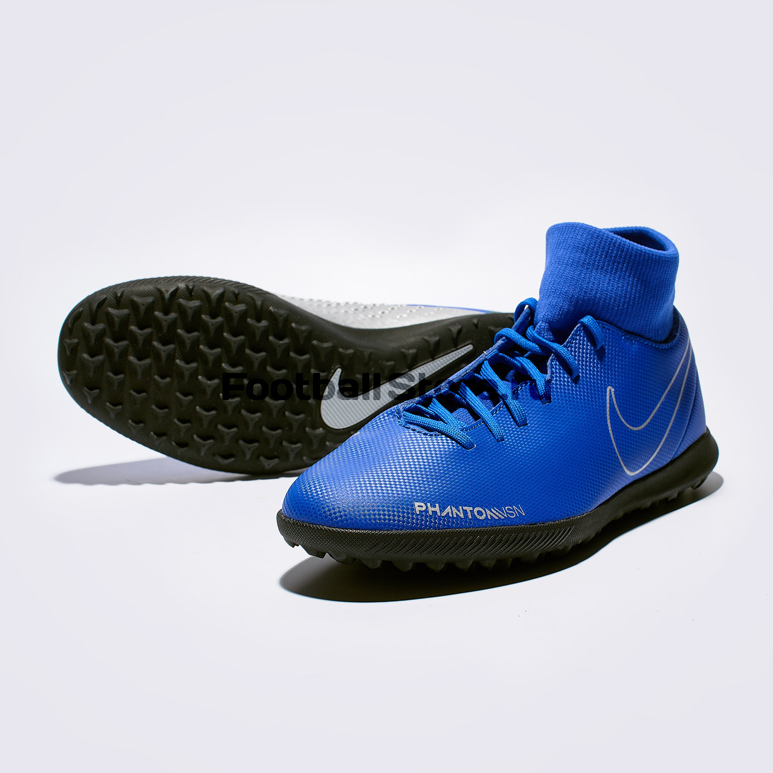 Шиповки Nike Phantom Vision Club DF TF AO3273-400 бутсы nike шиповки nike jr tiempox legend vi tf 819191 018