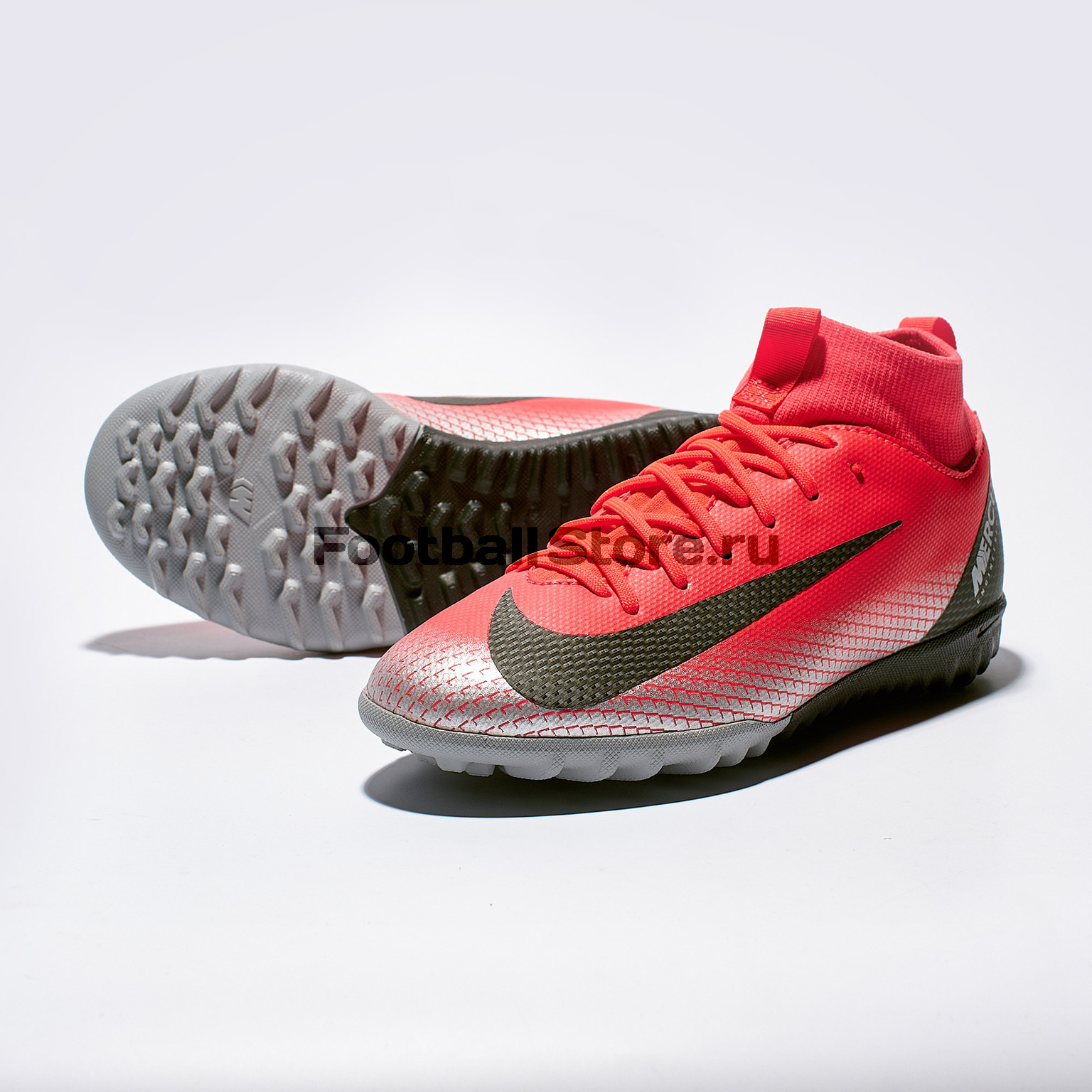 Шиповки детские Nike Superfly 6 Academy GS CR7 TF AJ3112-600 бутсы детские nike superfly academy gs cr7 fg mg aj3111 600