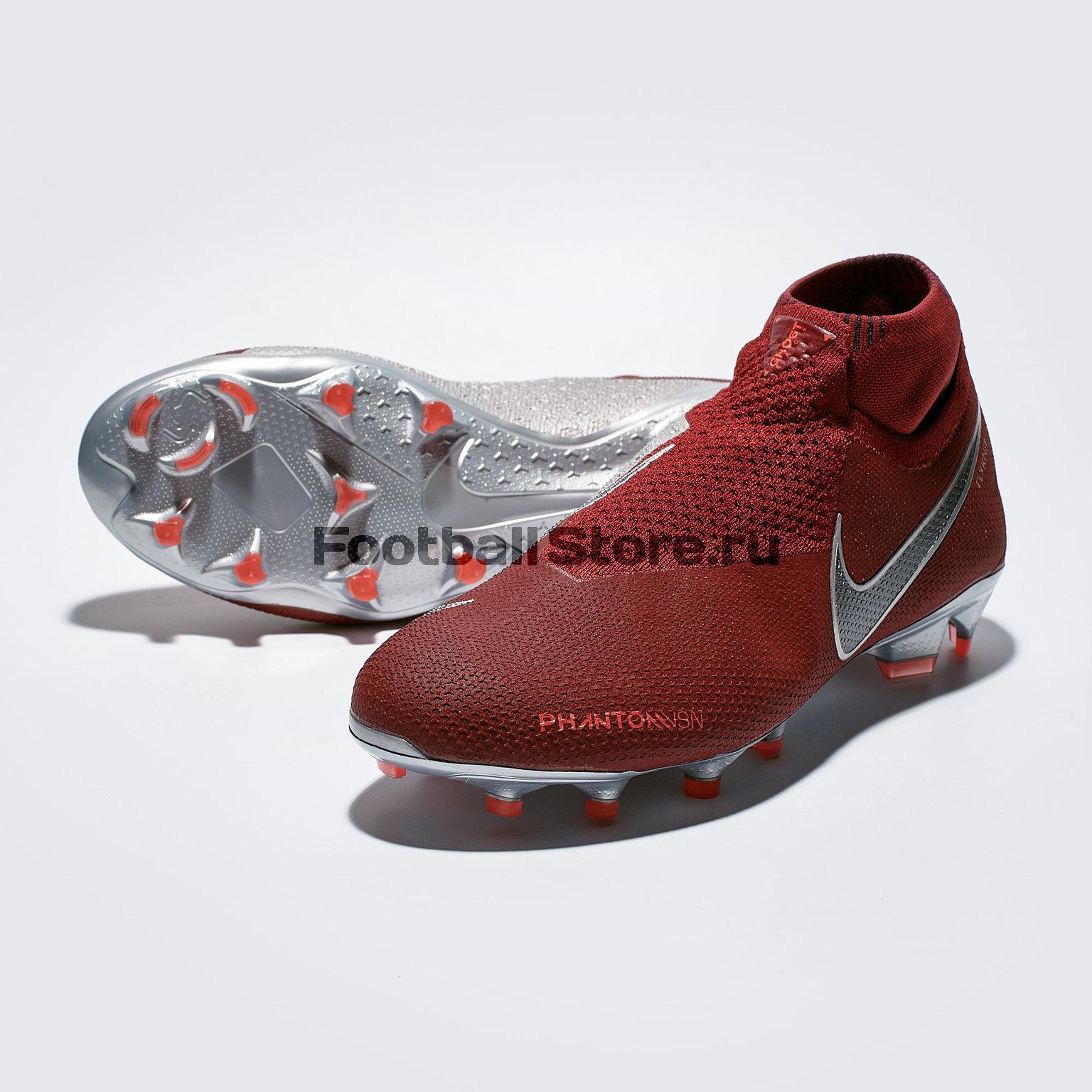 Бутсы Nike Phantom Vision Elite DF FG AO3262-606 бутсы nike phantom vision elite df ag pro ao3261 606