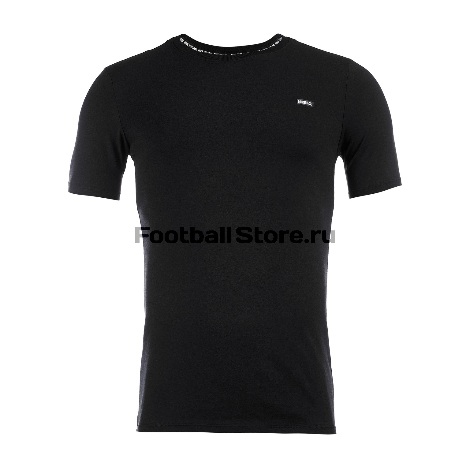 Футболка тренировочная Nike F.C. Dry Tee Small Block AH9657-010 футболки nike тренировочная футболка женская nike w nsw signal tee logo 821993 010