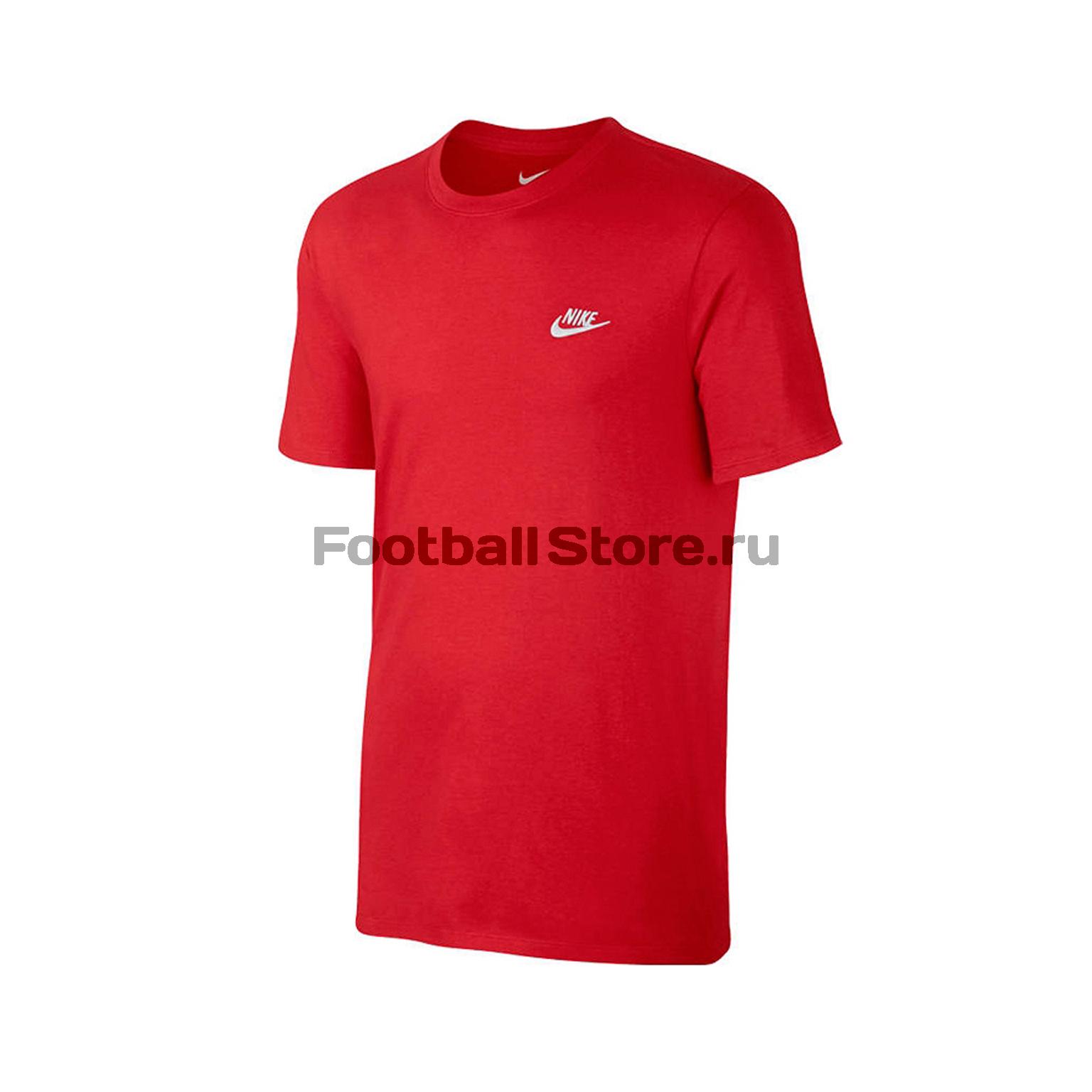Футболка тренировочная Nike Tee Club Embrd Ftra 827021-659 футболки nike тренировочная футболка женская nike w nsw signal tee logo 821993 010