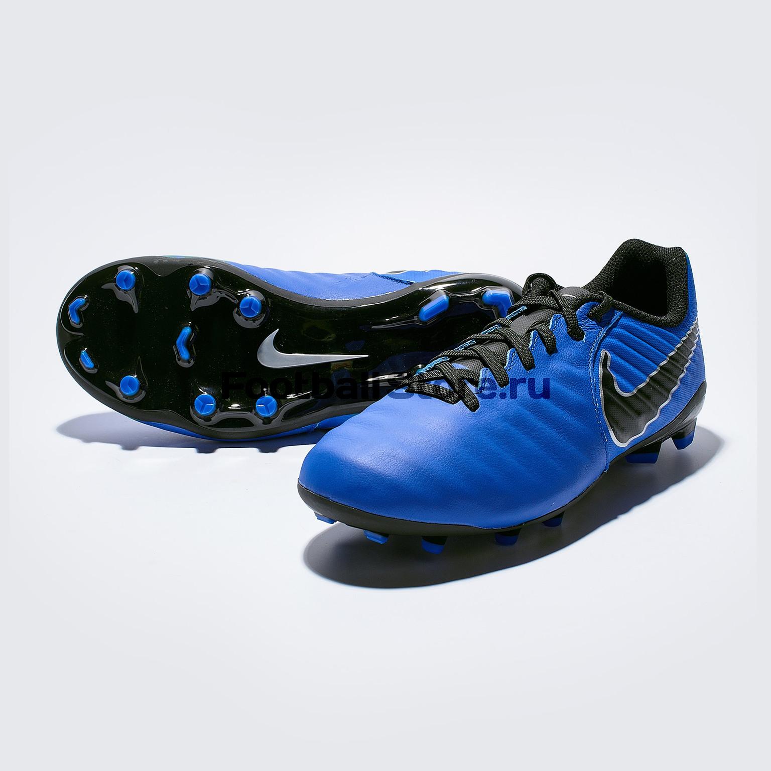 Бутсы детские Nike Legend 7 Academy FG AO2291-400 бутсы nike phantom vision academy df sg ao3260 060
