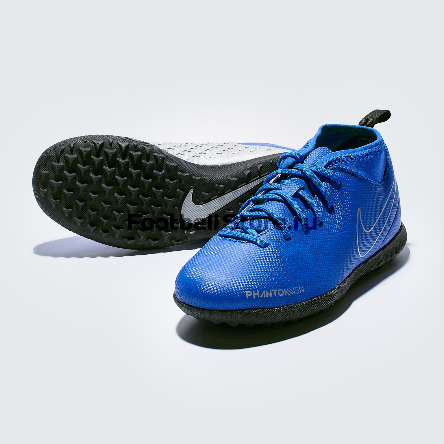 Шиповки детские Nike Phantom Vision Club DF TF AO3294-400 бутсы nike шиповки nike jr tiempox legend vi tf 819191 018