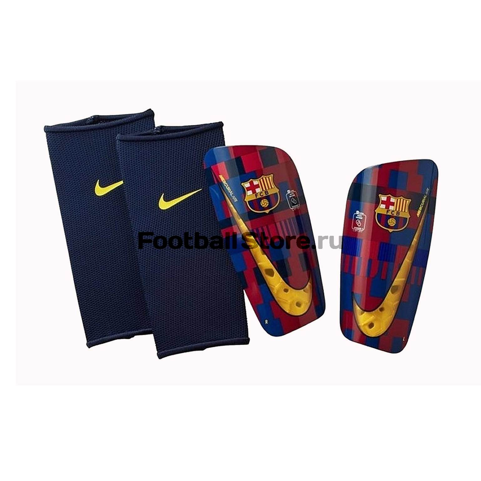 Щитки Nike Barcelona Mercurial Lite SP2155-610 original new arrival nike mercurial victory v tf men s light comfortable soccer shoes football sneakers