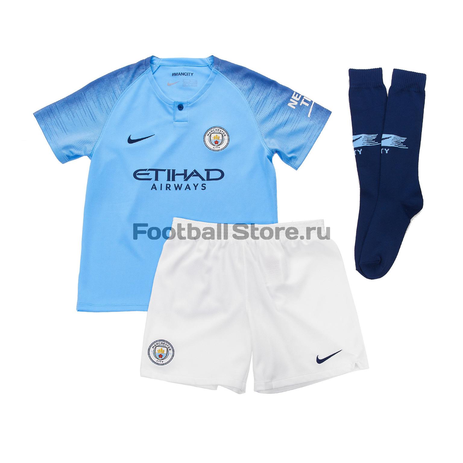 Комплект детской формы Nike Manchester City Home 2018/19