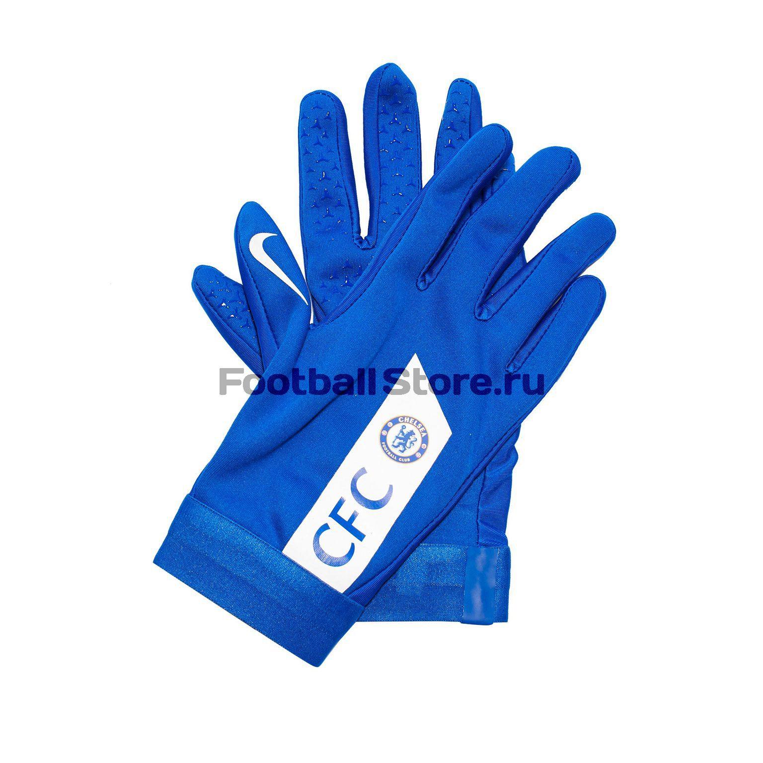 цена Перчатки тренировочные Nike Chelsea Academy Hyperwarm GS0381-495