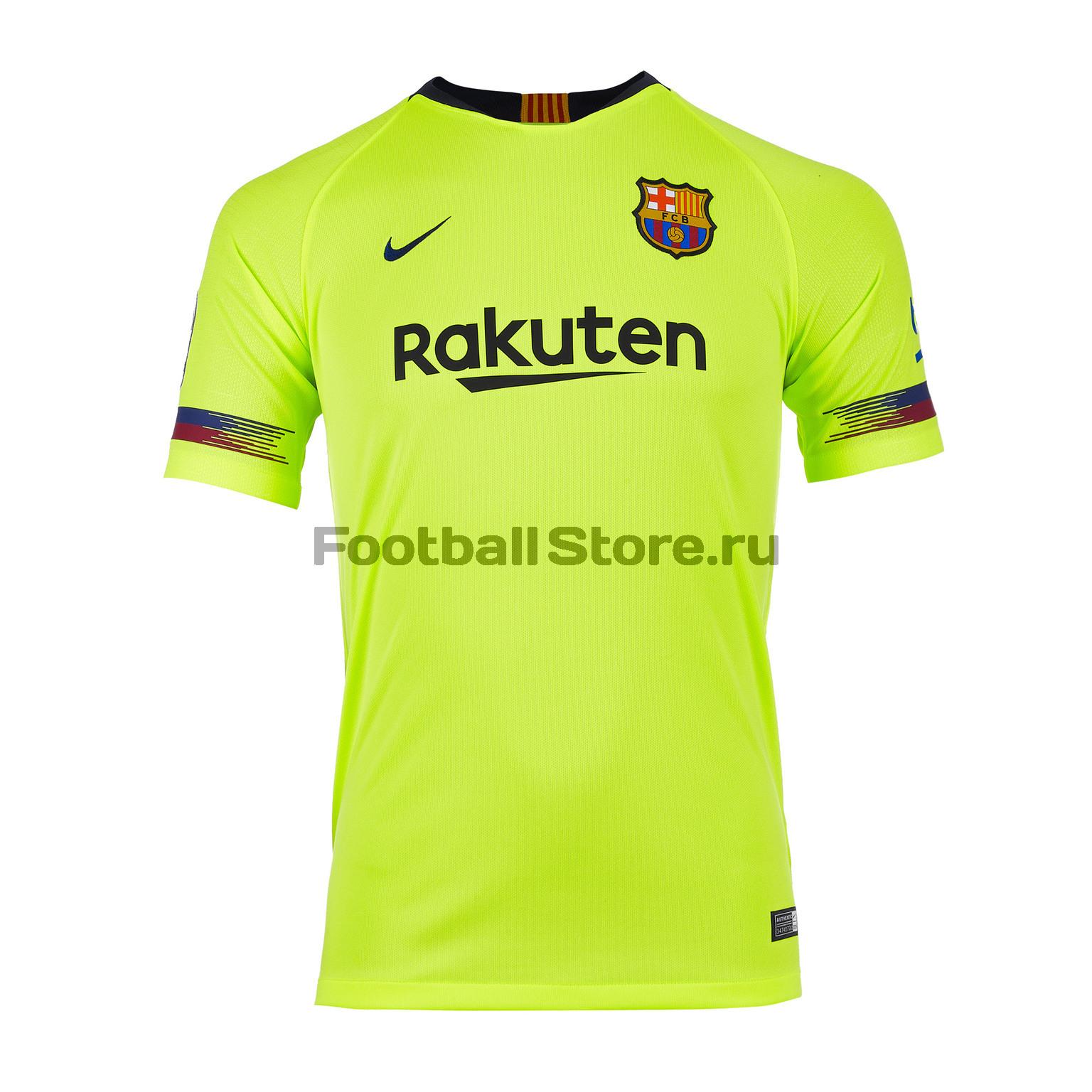 Футболка выездная подростковая Nike Barcelona Away 2018/19 цена