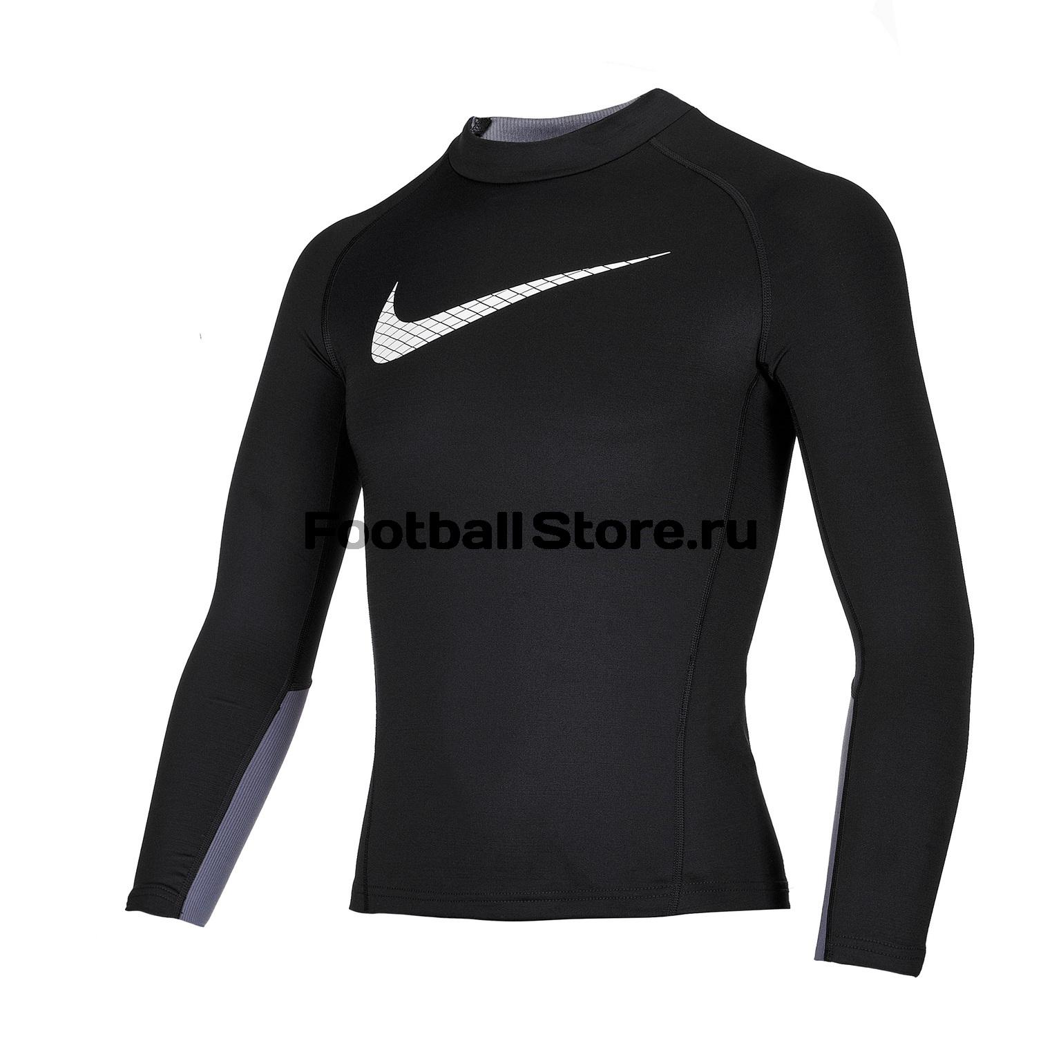 Белье футболка подростковая Nike Warm Top GFX AH3997-010 куртка подростковая nike team winter jacket 645907 010