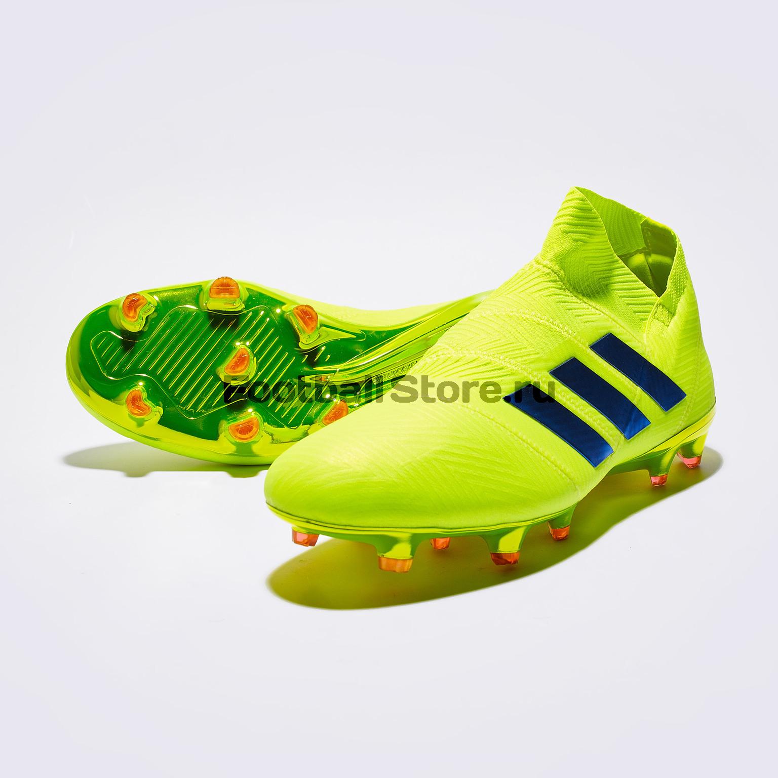 Бутсы Adidas Nemeziz 18 + FG BB9420 бутсы adidas messi 16 1 fg jr bb3852