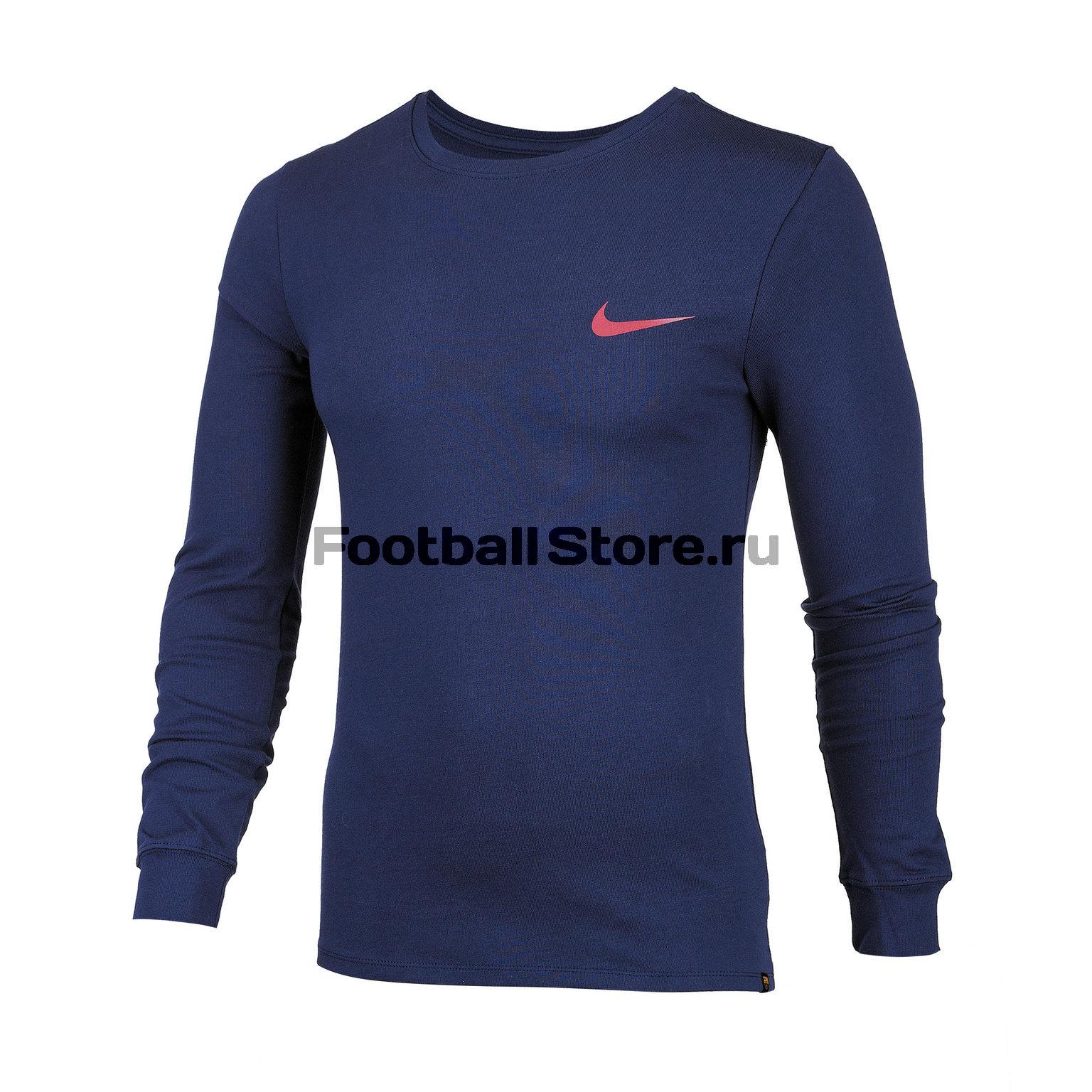 Футболка с длинным рукавом Nike Barcelona Tee Squad AA5706-451 футболка с длинным рукавом asics 156859 0904 man long sleeve tee