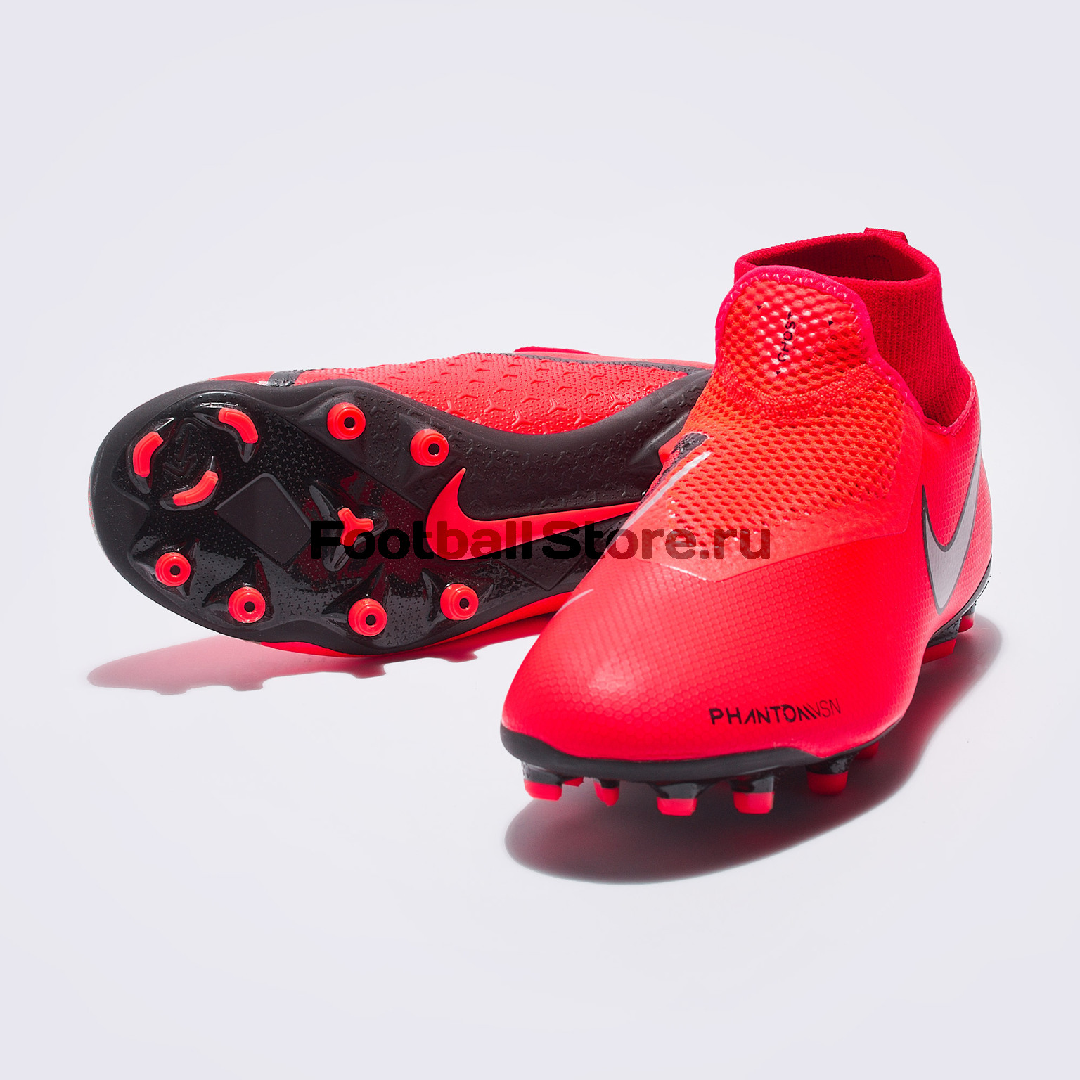 Бутсы детские Nike Phantom Vision Academy DF FG/MG AO3287-600 бутсы детские nike superfly academy gs cr7 fg mg aj3111 600