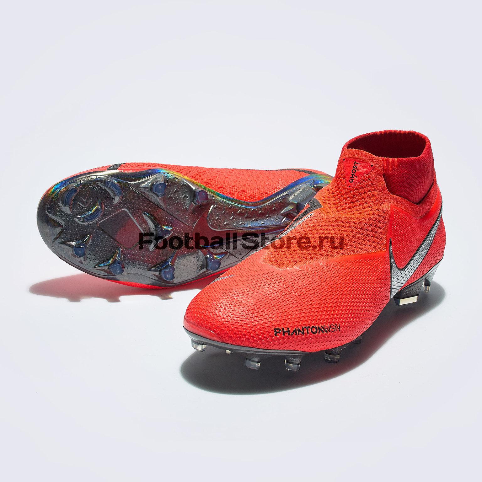 Бутсы Nike Phantom Vision Elite DF FG AO3262-600 бутсы детские nike phantom vision elite df fg mg ao3289 600