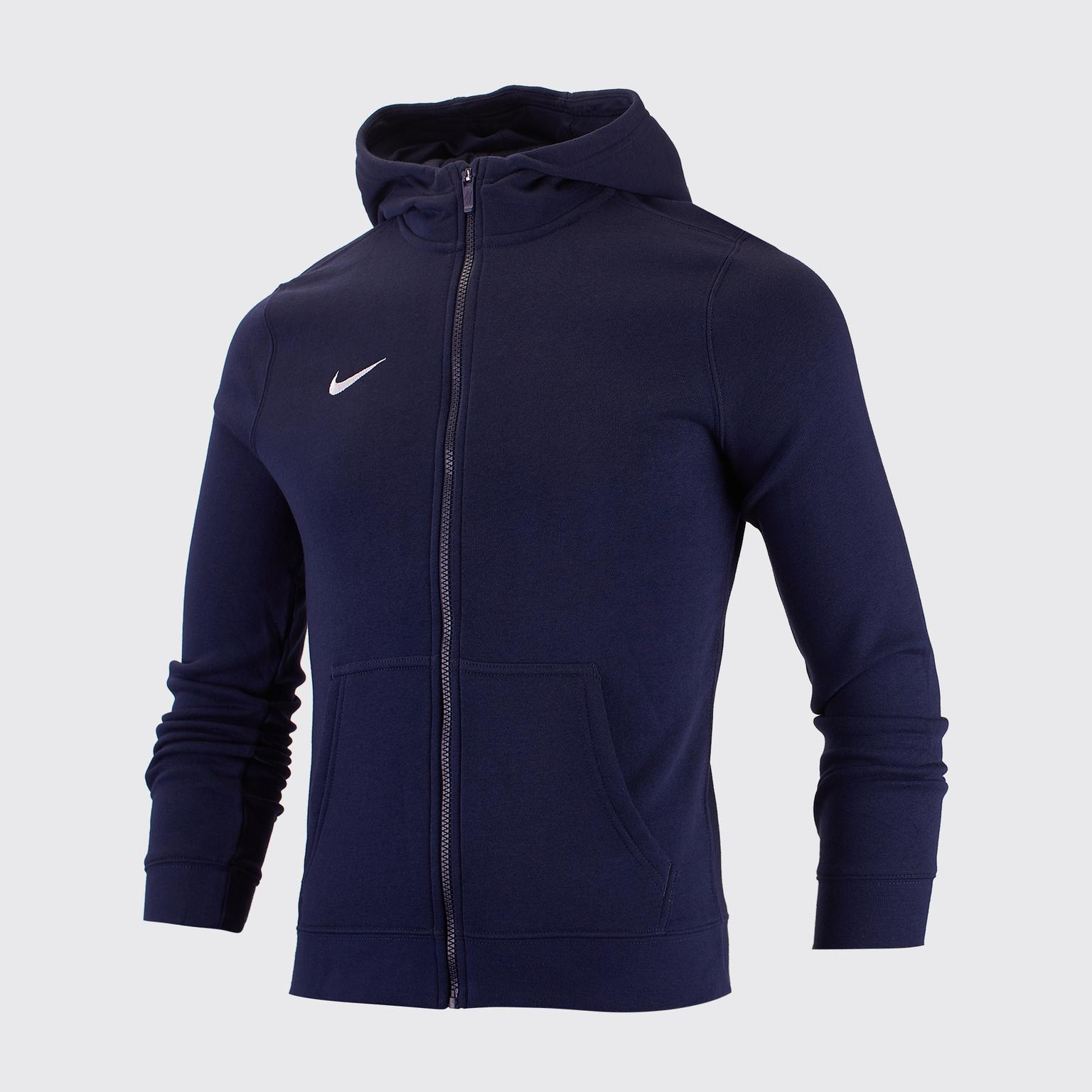 Толстовка подростковая Nike Hoodie FZ FLC Club19 AJ1458-451 футболка подростковая nike team club blend tee 658494 451