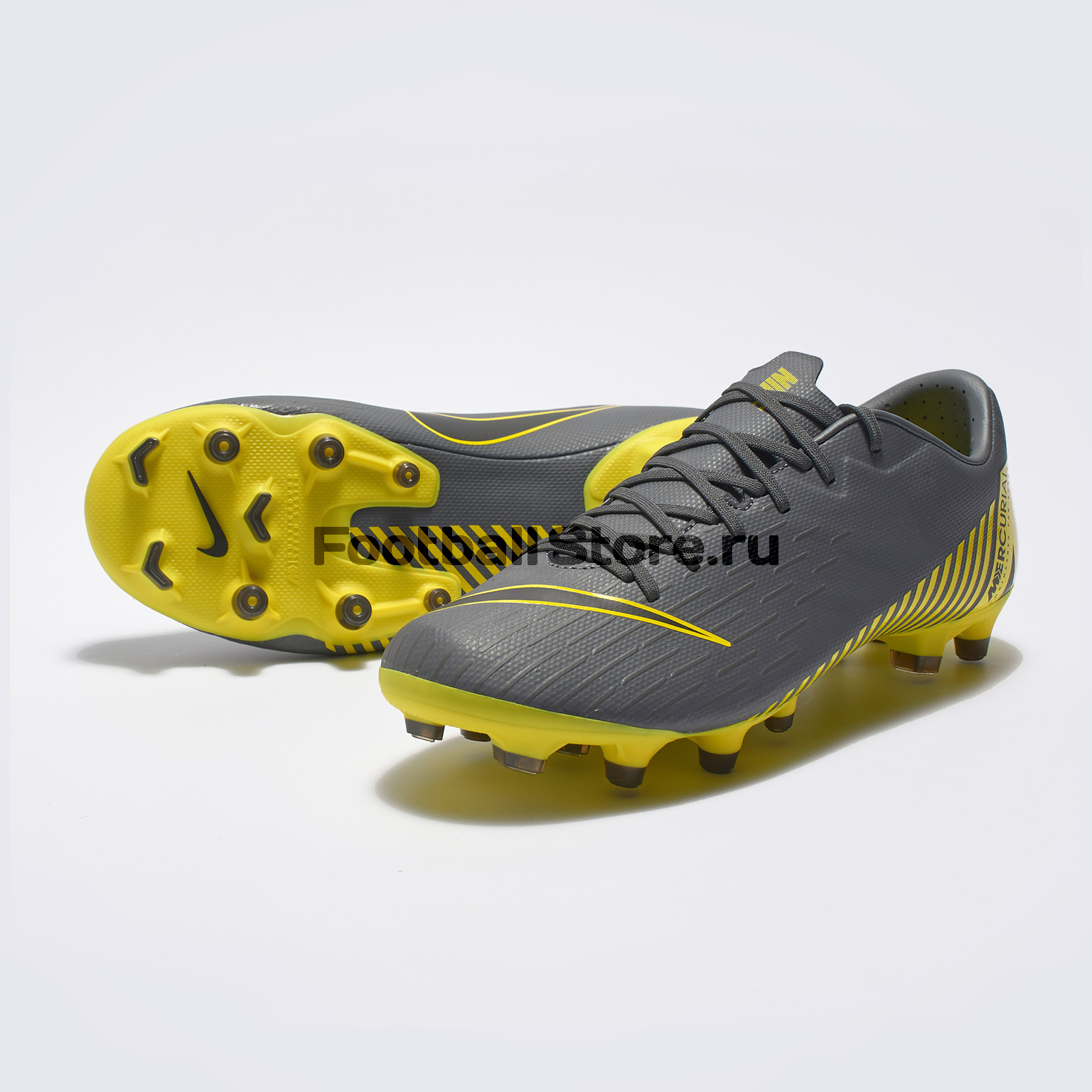 Бутсы Nike Vapor 12 Academy FG/MG AH7375-070 бутсы для мальчика nike jrbravata ii fg цвет желтый черный 844442 070 размер 13c 30