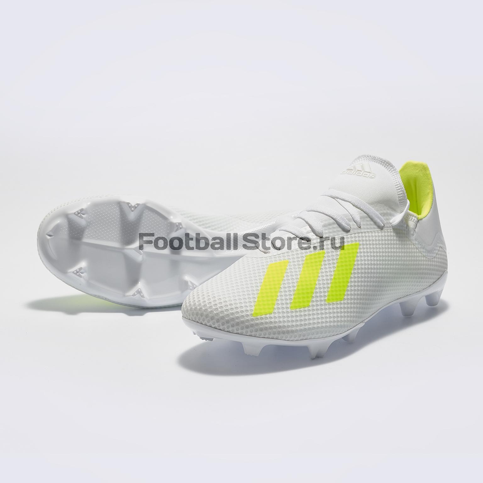 Бутсы Adidas X 18.3 FG BB9368 бутсы adidas x 17 1 fg bb6353