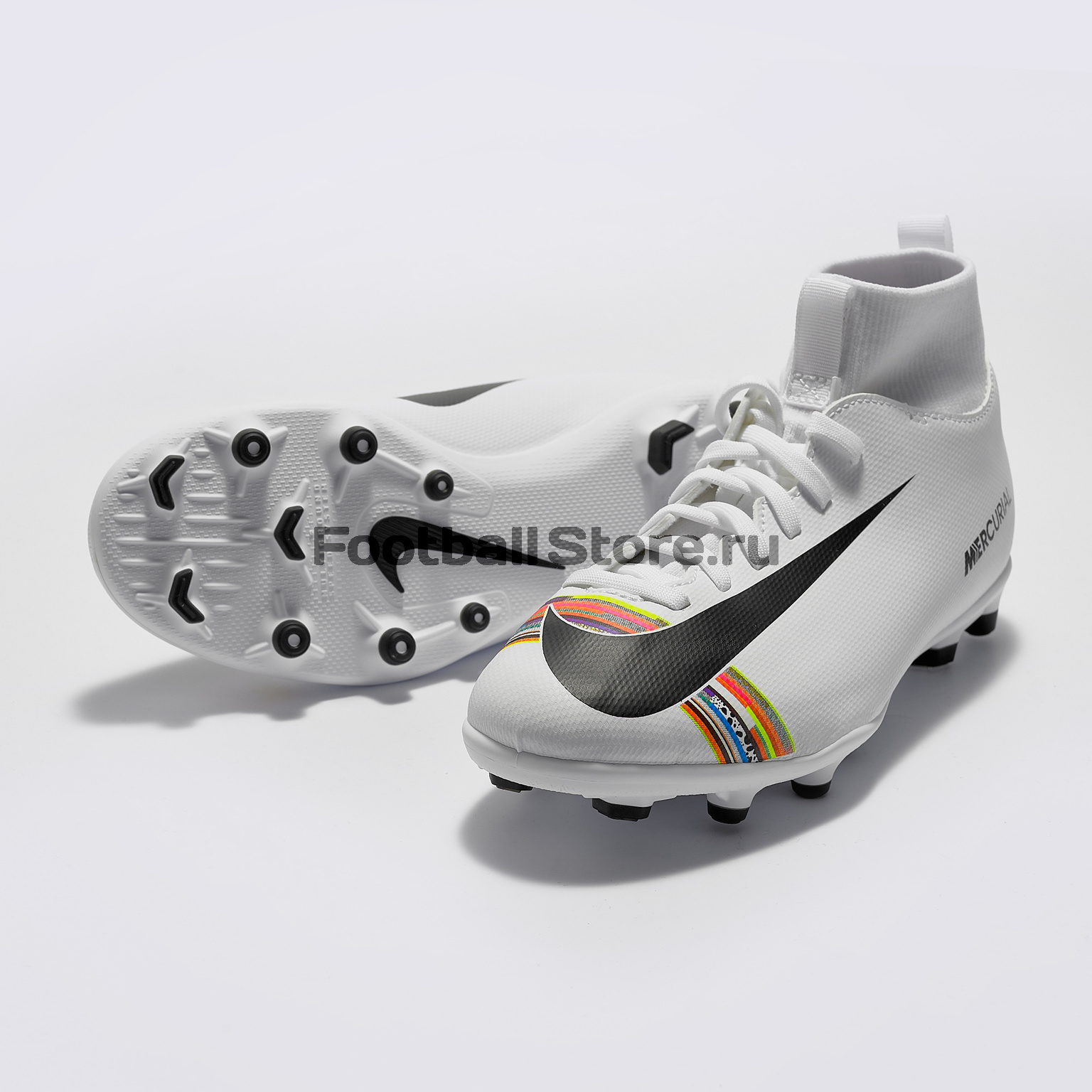 Бутсы детские Nike Superfly 6 Club CR7 FG/MG AJ3115-109 бутсы nike mercurial vapor cr7 fg 684860 014
