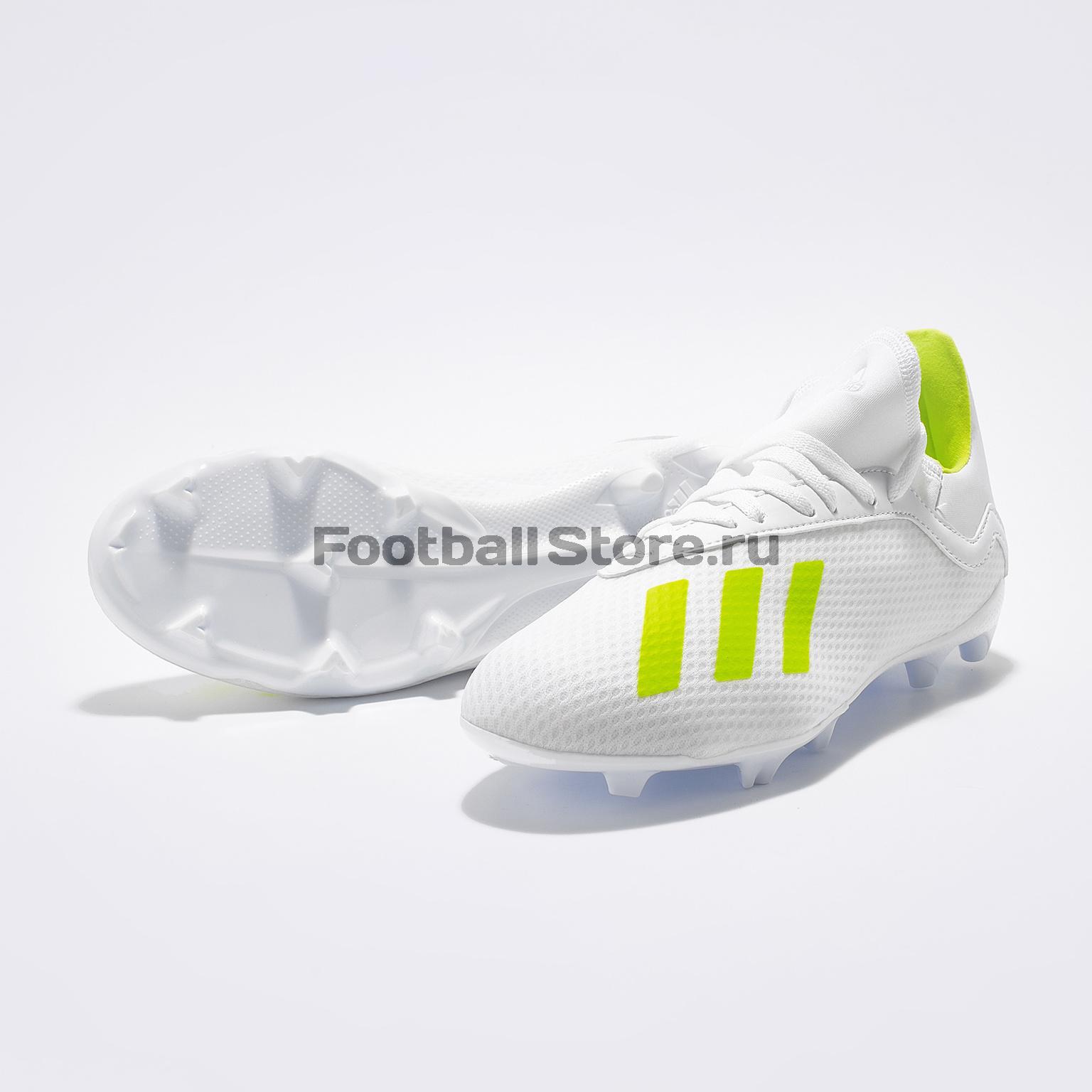 Бутсы детские Adidas X 18.3 FG BB9372 бутсы adidas x 17 1 fg bb6353