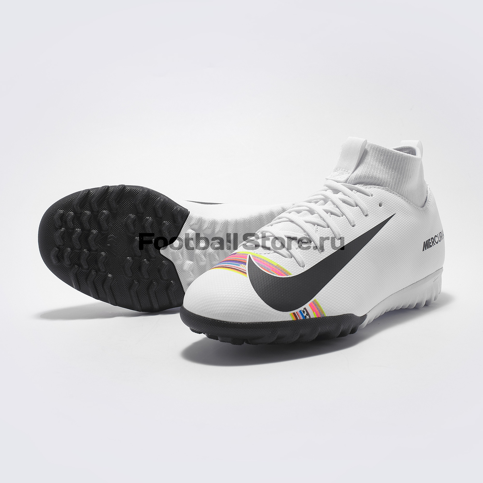 Шиповки детские Nike Superfly 6 Academy CR7 GS TF AJ3112-109 бутсы nike шиповки nike jr tiempox legend vi tf 819191 018