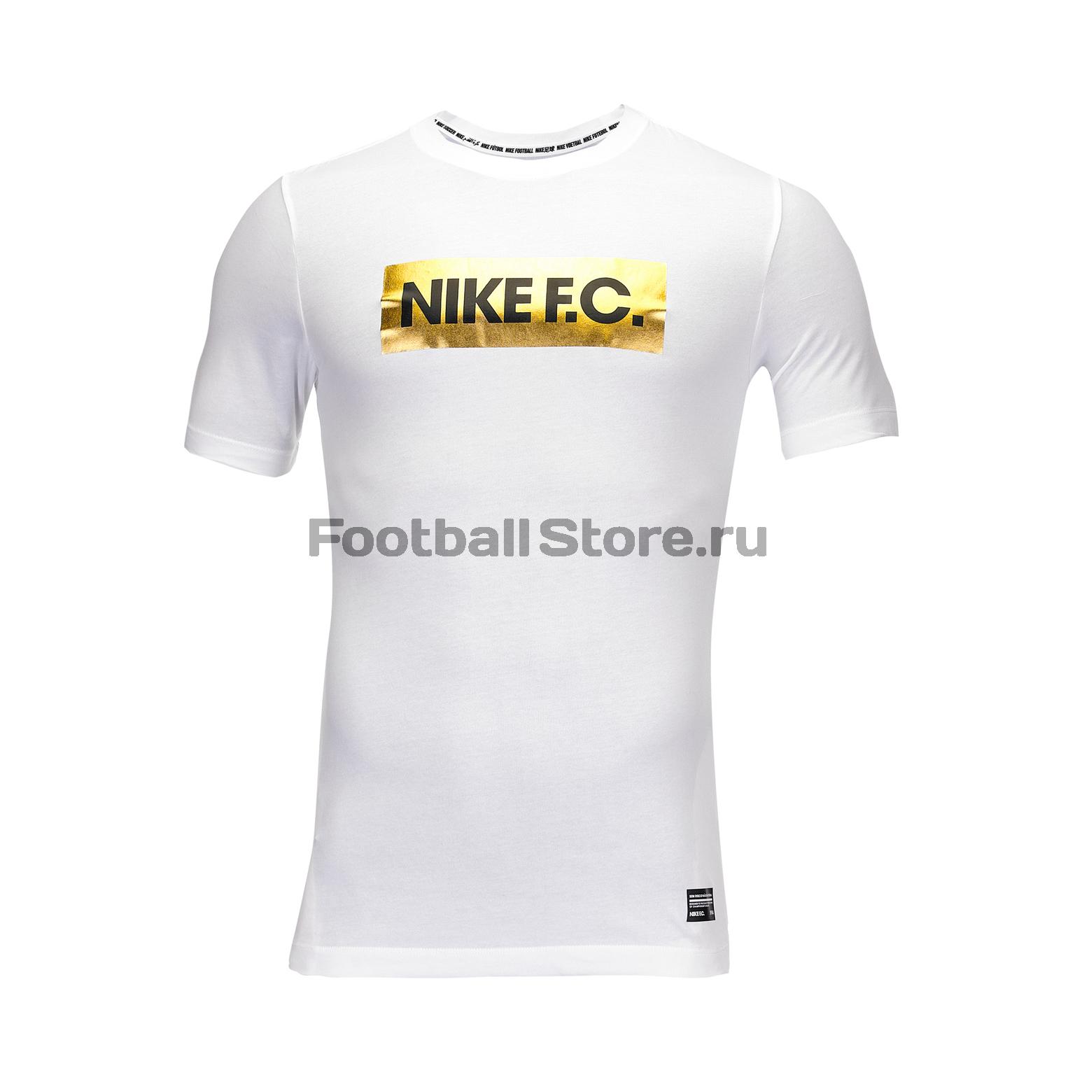 Футболка хлопковая Nike F.C. Dry Gold Block BQ8117-100 обои maxwell 15966 24