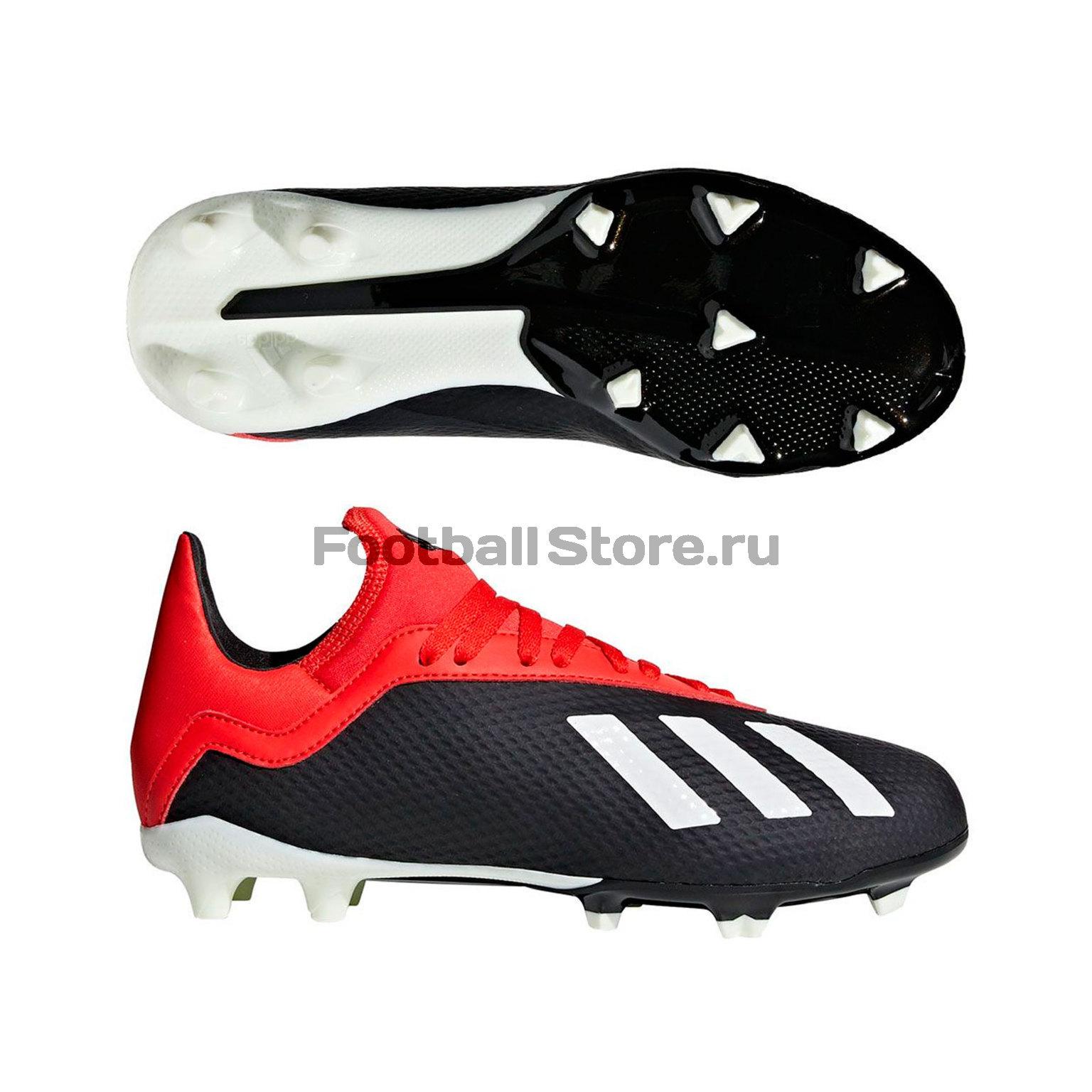Бутсы детские Adidas X 18.3 FG BB9370 игровые бутсы adidas бутсы adidas ace 17 1 fg by2459