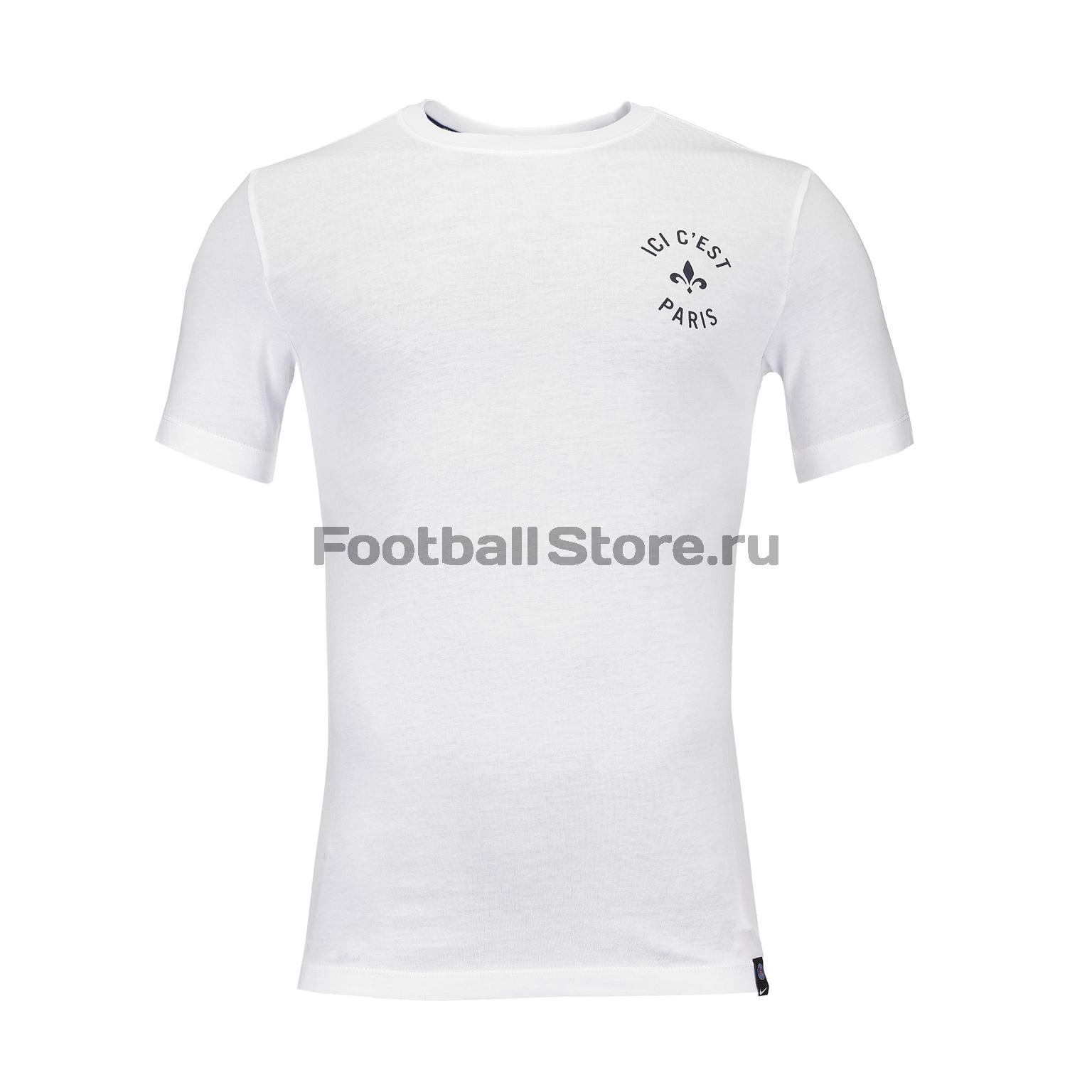 цена Футболка Nike PSG Tee Kit Story Tell AQ7520-100 онлайн в 2017 году