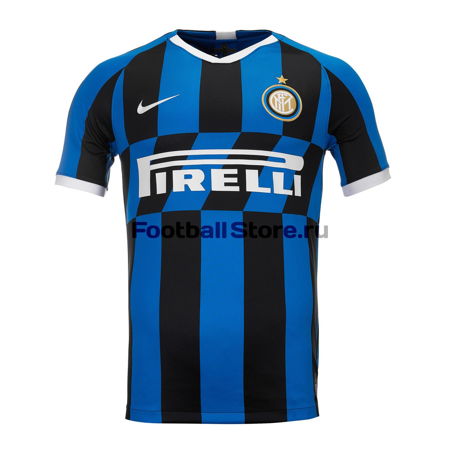 Футболка домашняя Nike Inter 2019/20 оригинальная домашняя футболка nike дзюба 22 2018 19 nike