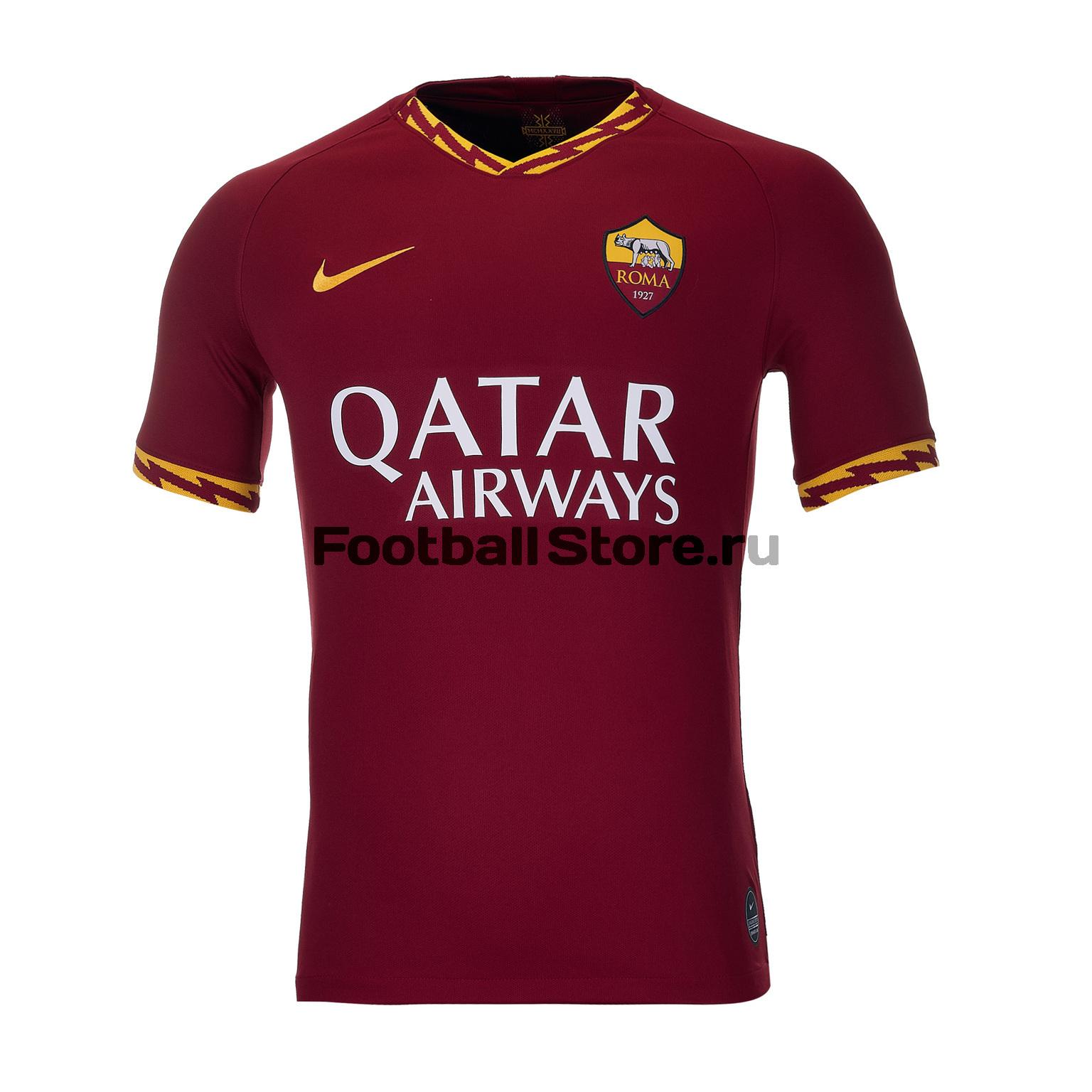Футболка игровая домашняя Nike Roma 2019/20 футболка игровая домашняя nike barcelona 2018 19