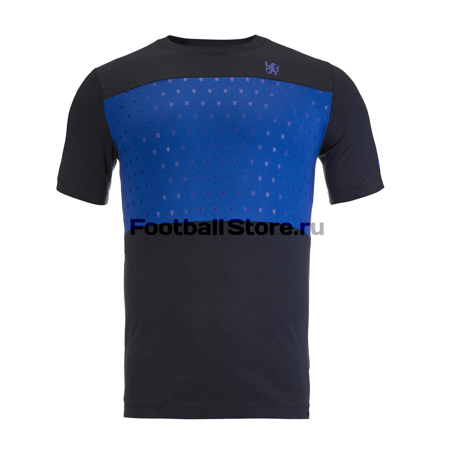Футболка хлопковая Nike Chelsea Tee Crest AQ7461-475 футболка хлопковая nike tee club19 ss aj1504 451