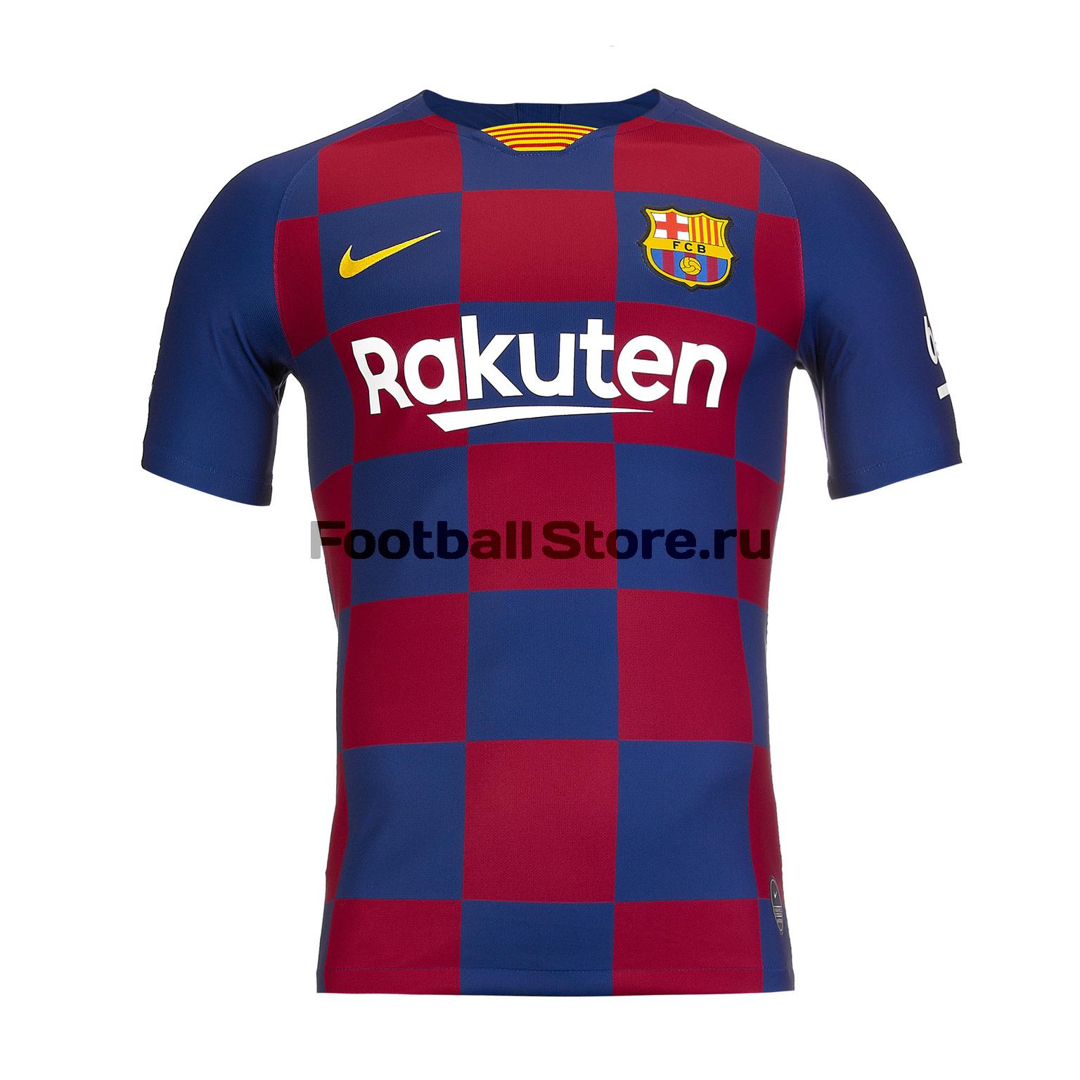Футболка игровая домашняя Nike Barcelona 2019/20 футболка игровая домашняя nike barcelona 2018 19