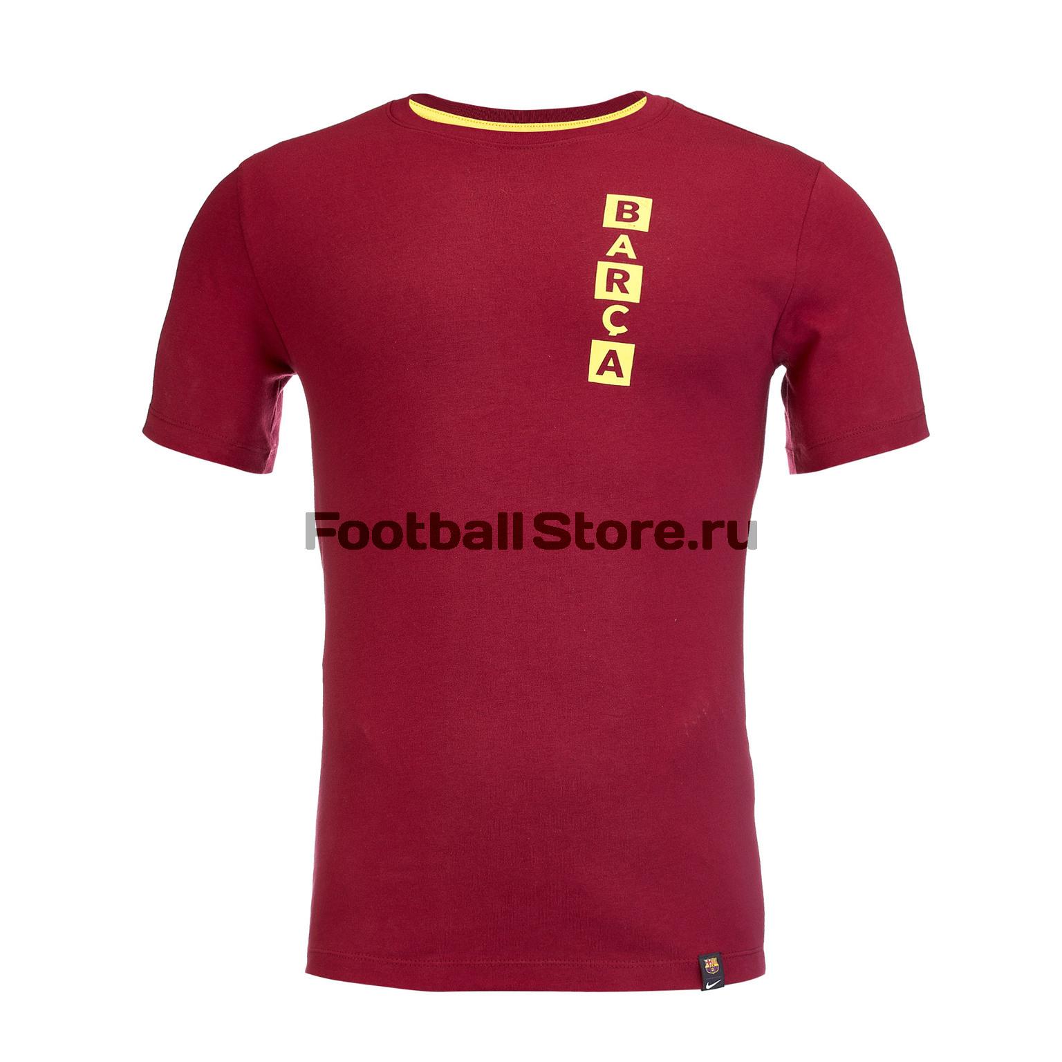 Футболка хлопковая Nike Barcelona Tee Kit Story Tell AQ7514-620 цена