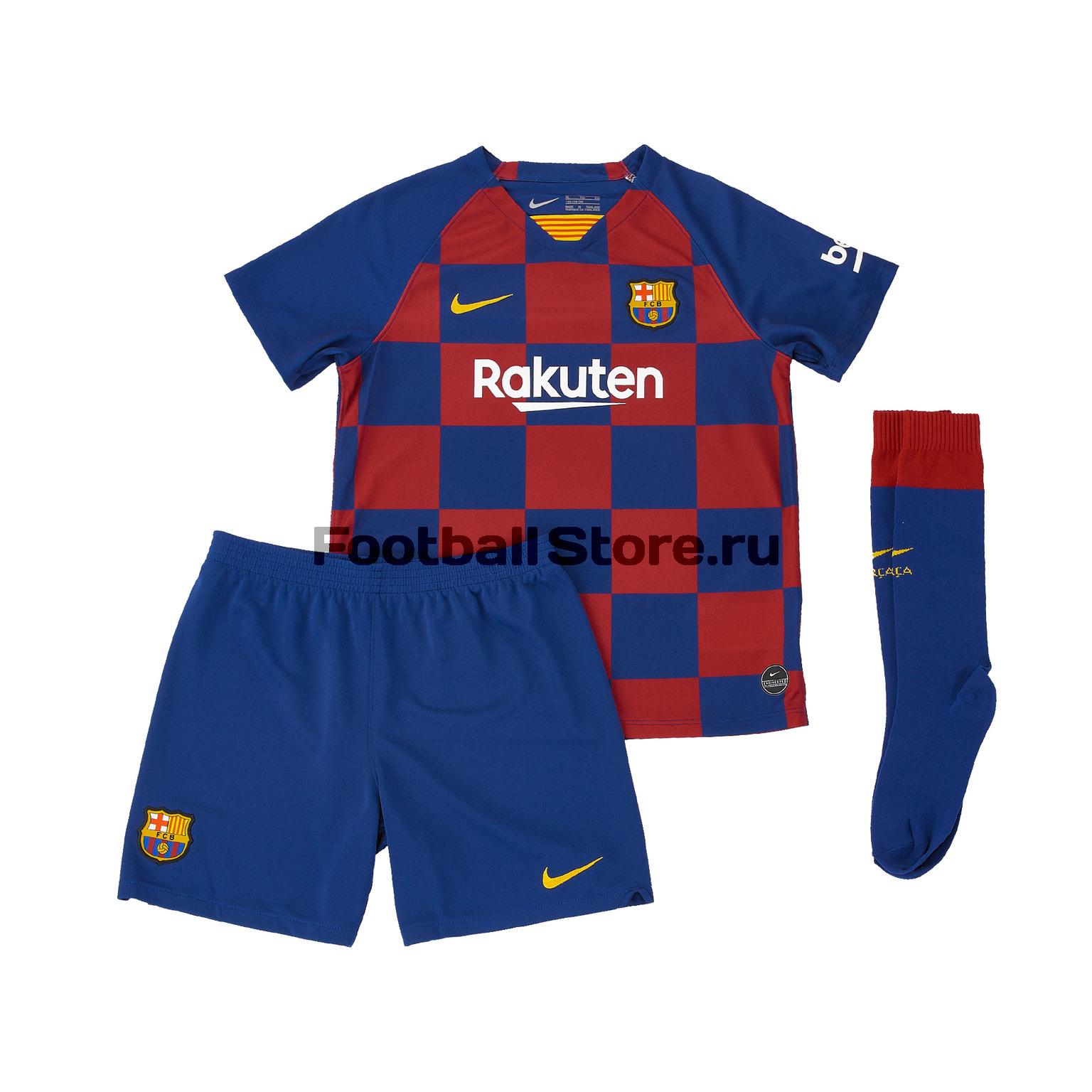 Комплект детской формы Nike Barcelona 2019/20