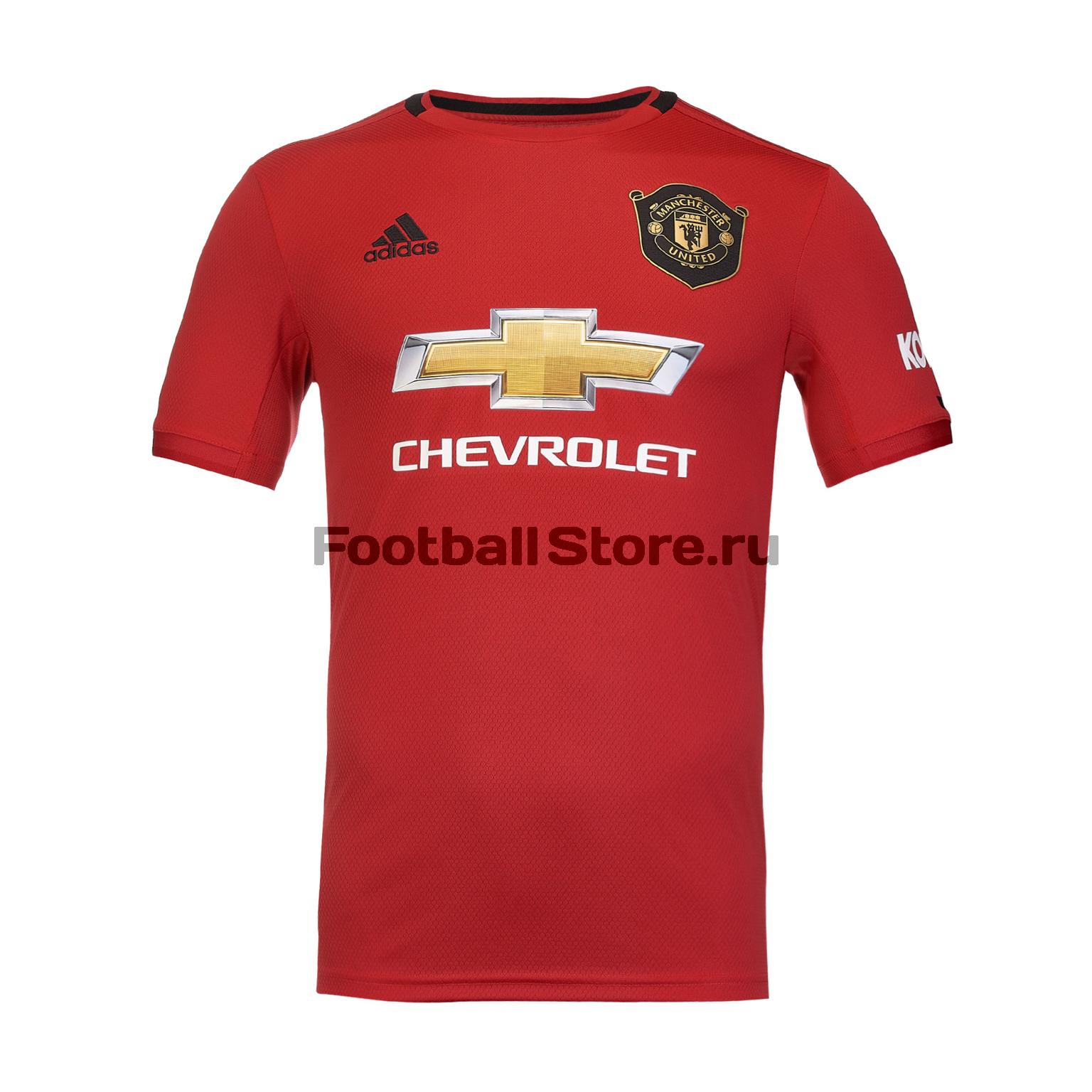 Футболка игровая домашняя Adidas Manchester United 2019/20 футболка домашняя tezenis tezenis mp002xm248ga