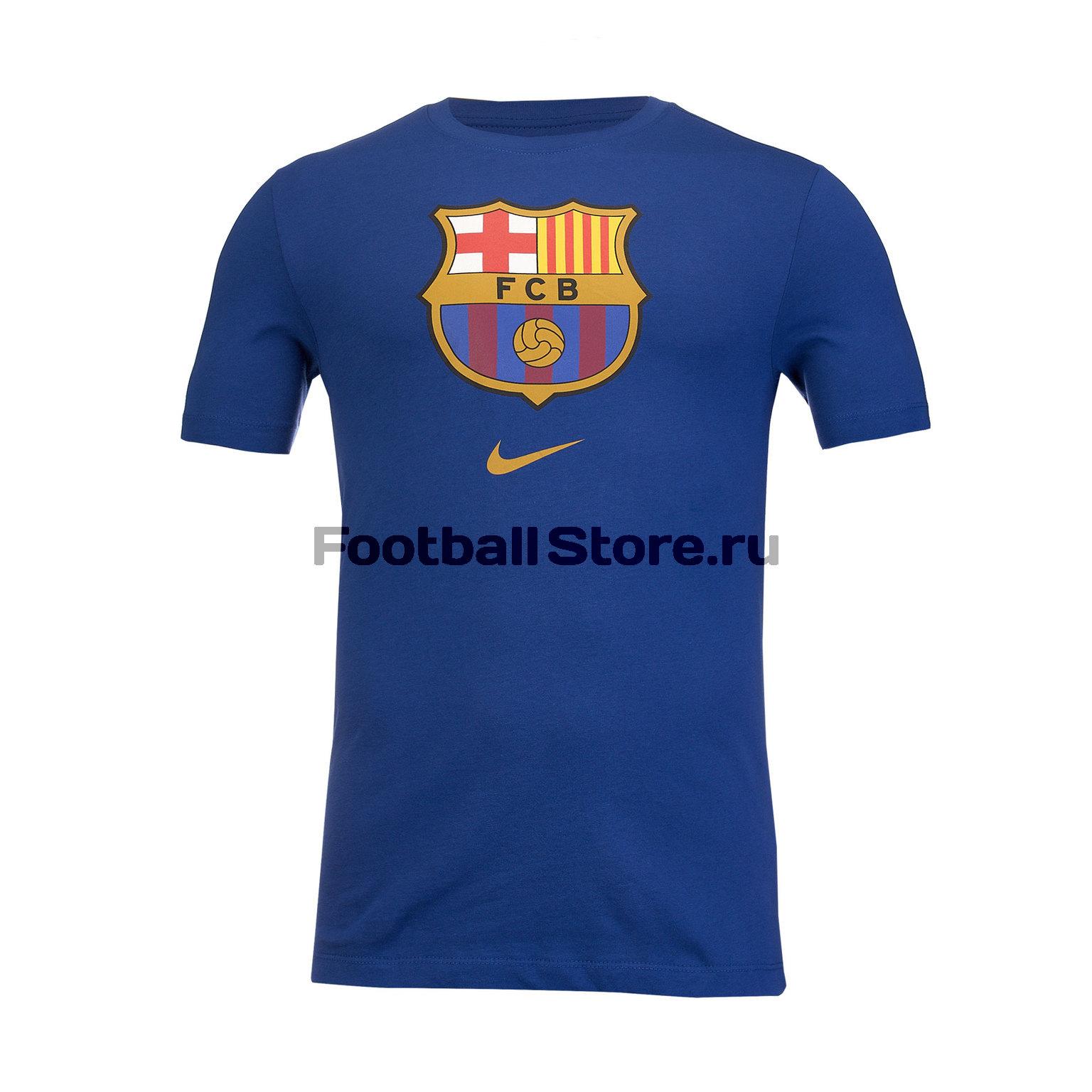 купить Футболка хлопковая Nike Barcelona Tee Evergreen CD3115-455 дешево