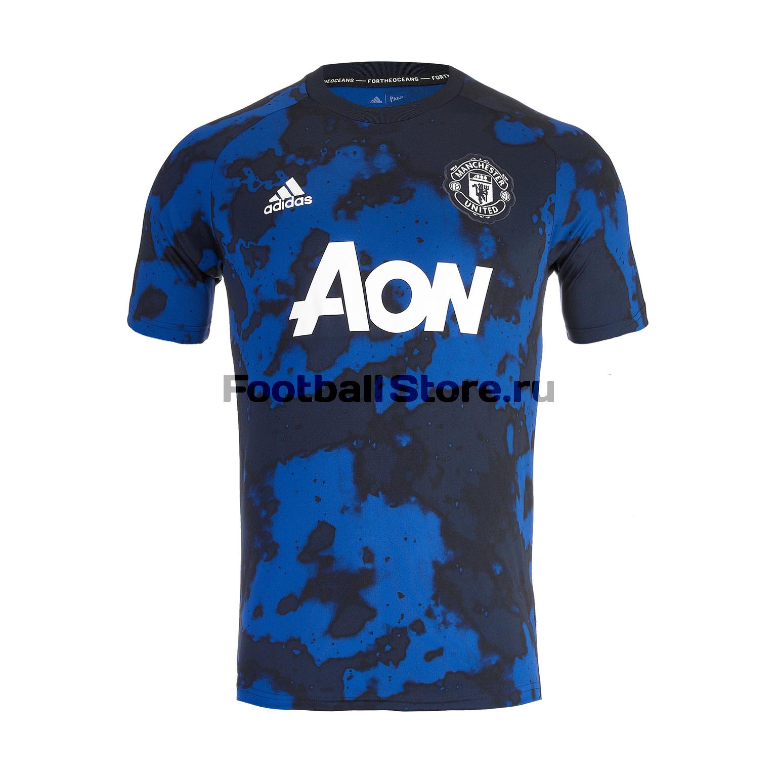 Футболка предыгровая Adidas Manchester United 2019/20 шарф болельщика adidas manchester united scarf cy5578