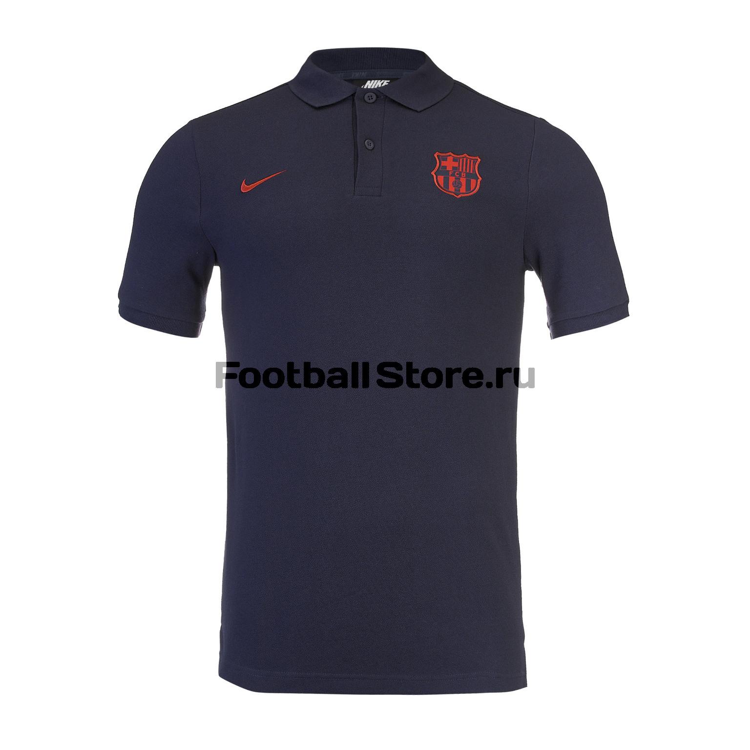 Поло Nike Barcelona AT4459-451 цена в Москве и Питере