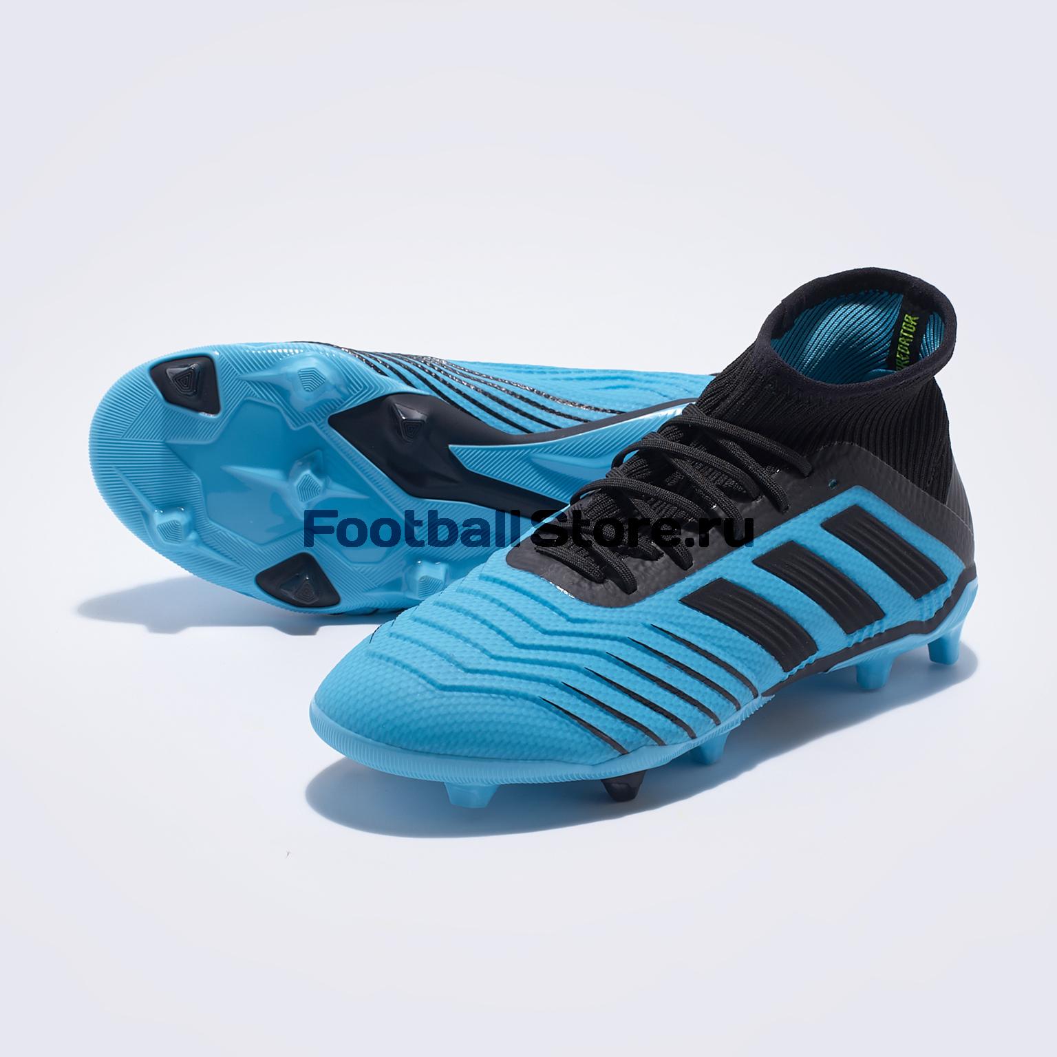 Бутсы детские Adidas Predator 19.1 FG G25792 цена