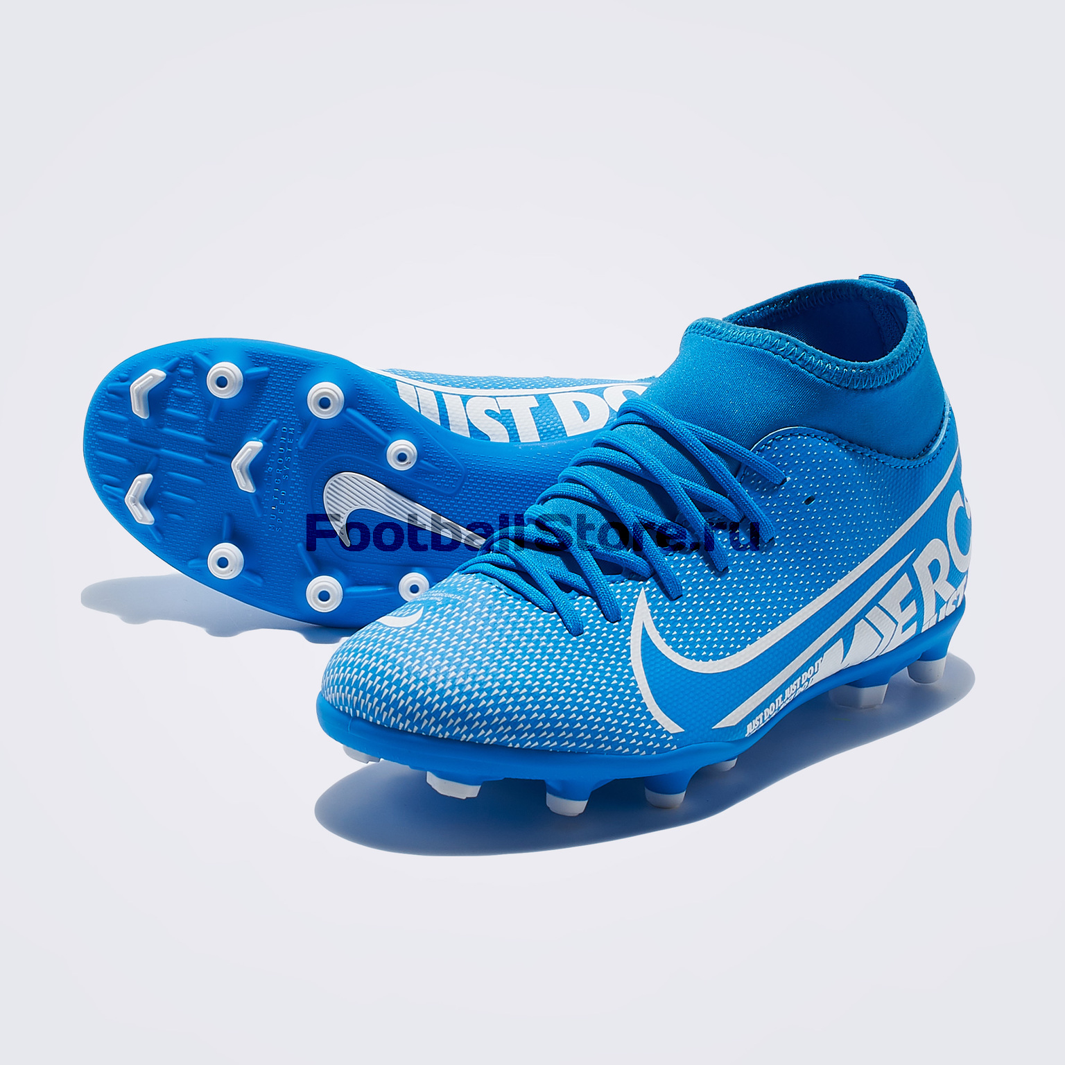 Бутсы детские Nike Superfly 7 Club FG/MG AT8150-414 бутсы nike superfly 6 club fg mg ah7363 001
