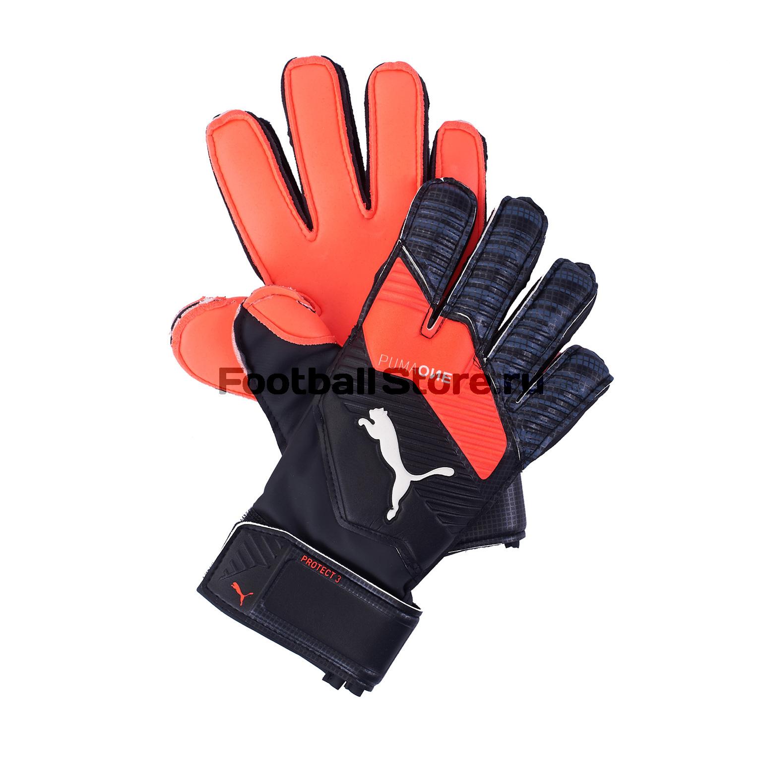 Перчатки вратарские Puma One Protect 3 JR 04163601