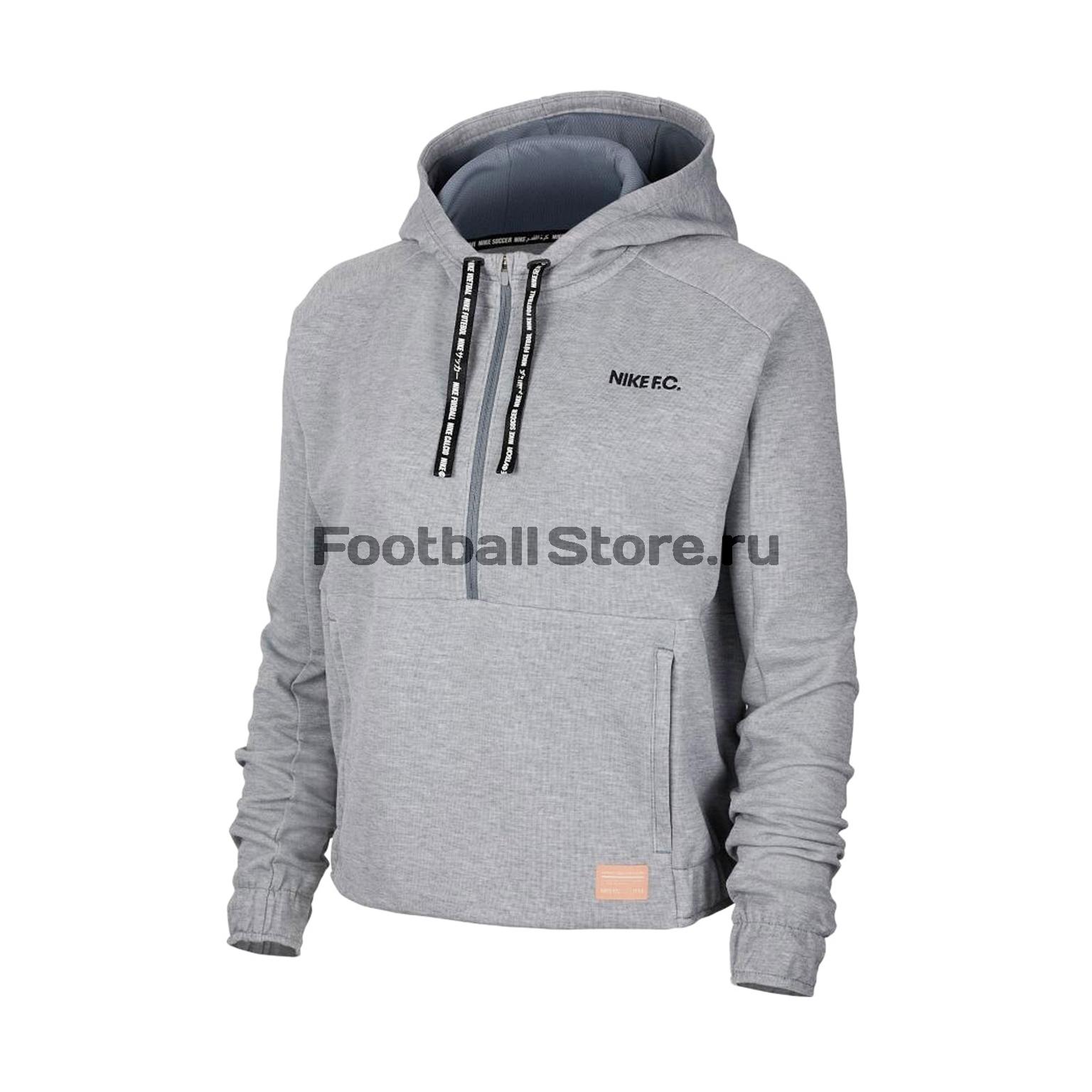 Толстовка женская Nike F.C. Dry Hoodie CD9155-065 толстовка классическая женская insight feed me hoodie smu marle