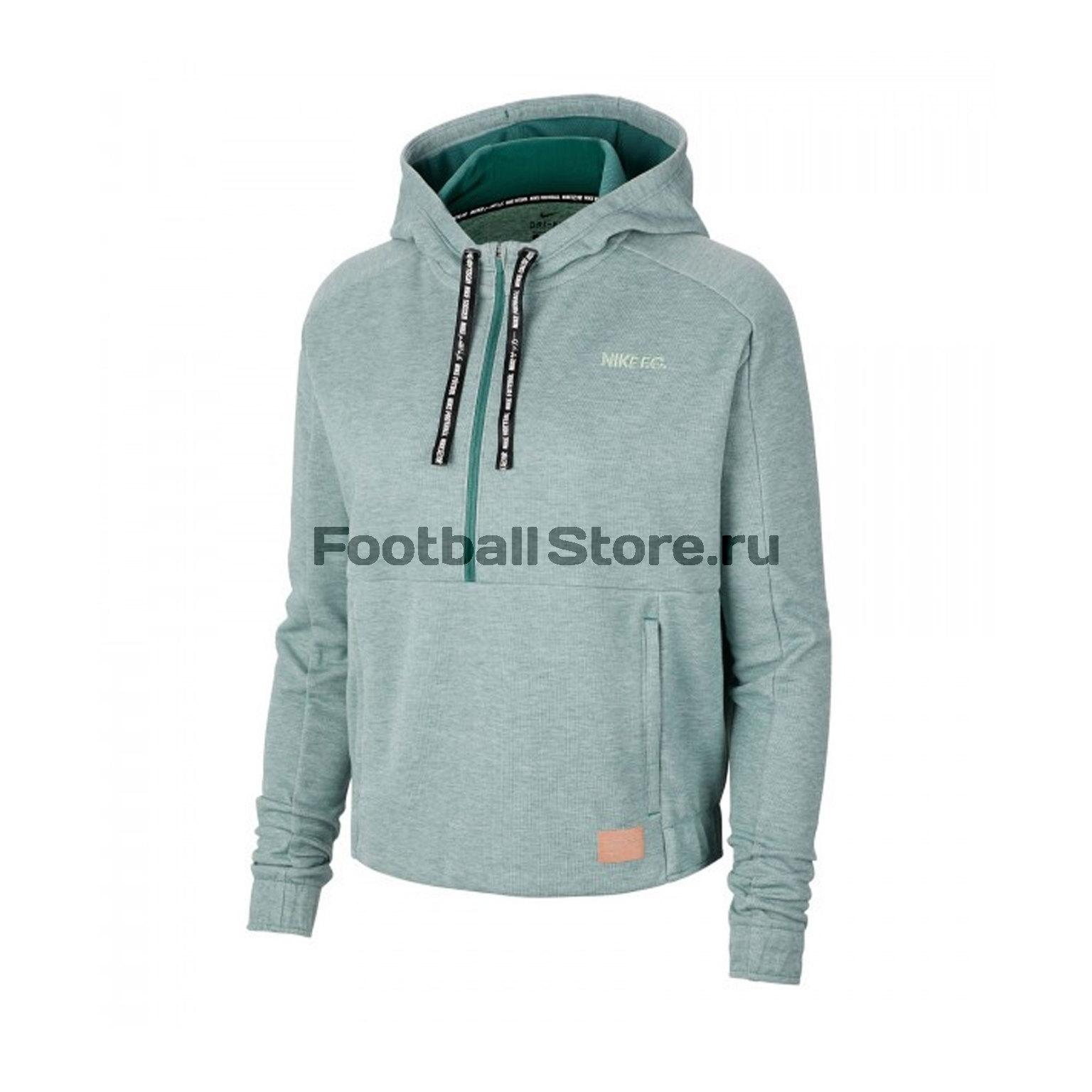 Толстовка женская Nike F.C. Dry Hoodie CD9155-362 толстовка женская mustang printed hoodie цвет серый 1006344 4141 размер xs 42