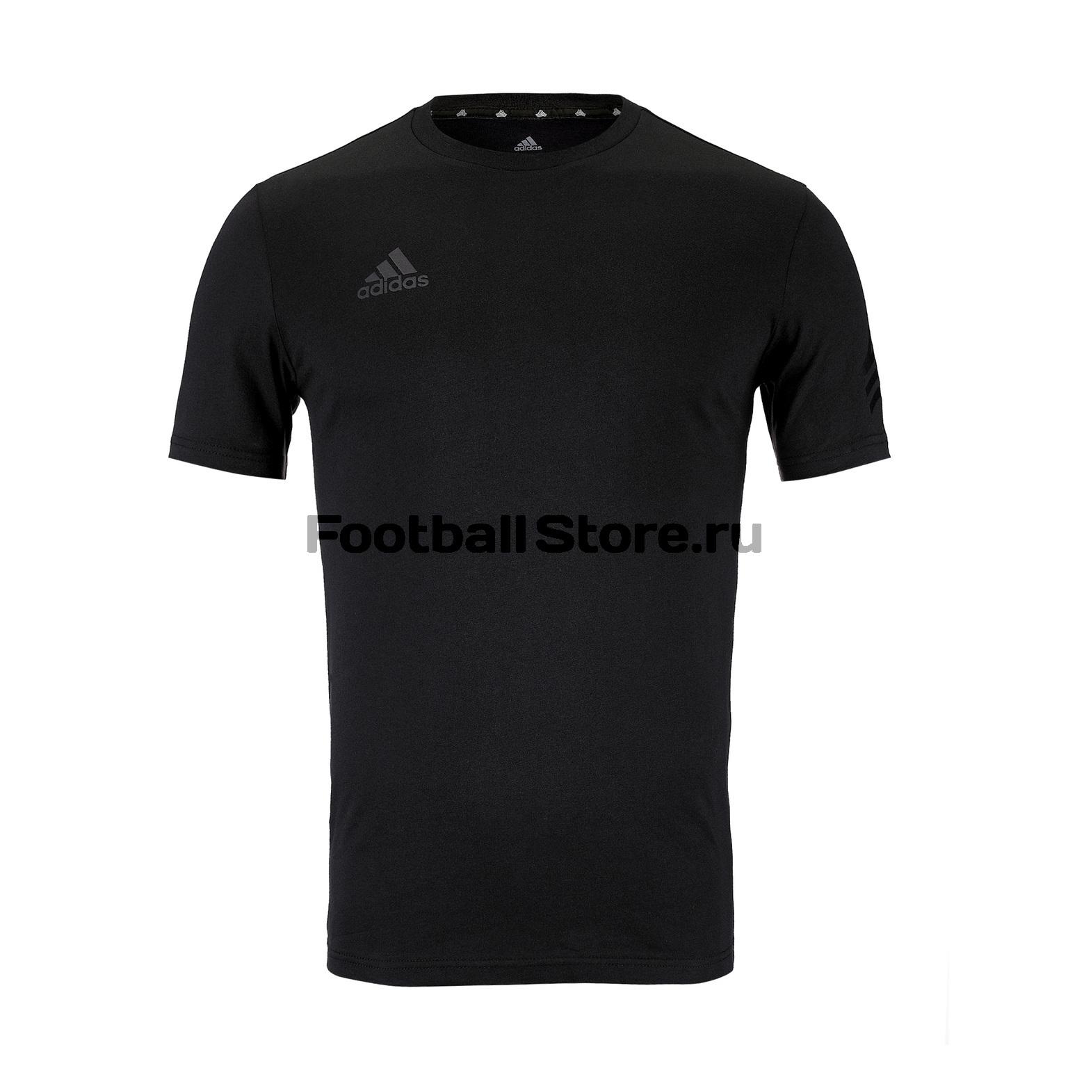 Футболка хлопковая Adidas Tan Logo Tee DX8264 футболка adidas con16 tee an9880
