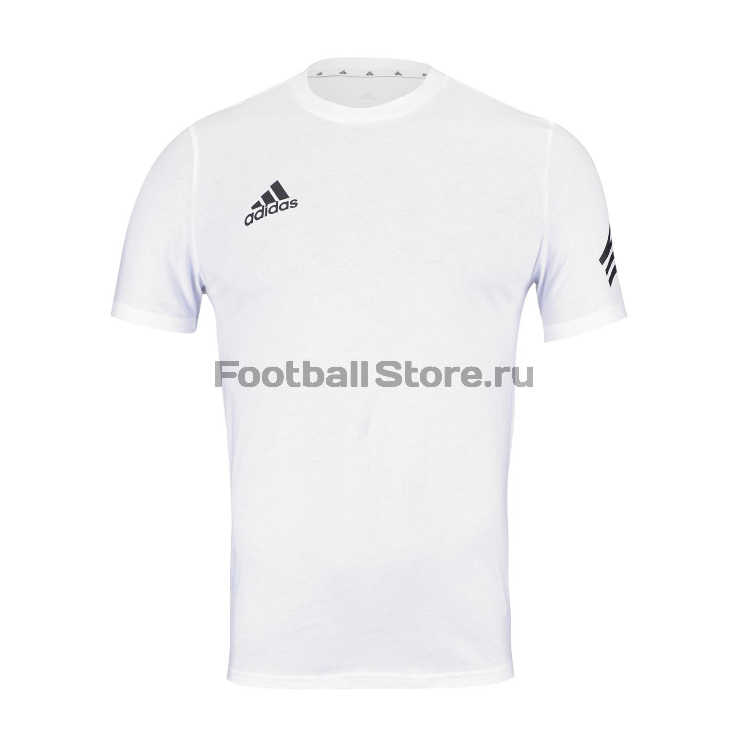 Футболка хлопковая Adidas Tan Logo Tee DY5849 футболка adidas con16 tee an9880