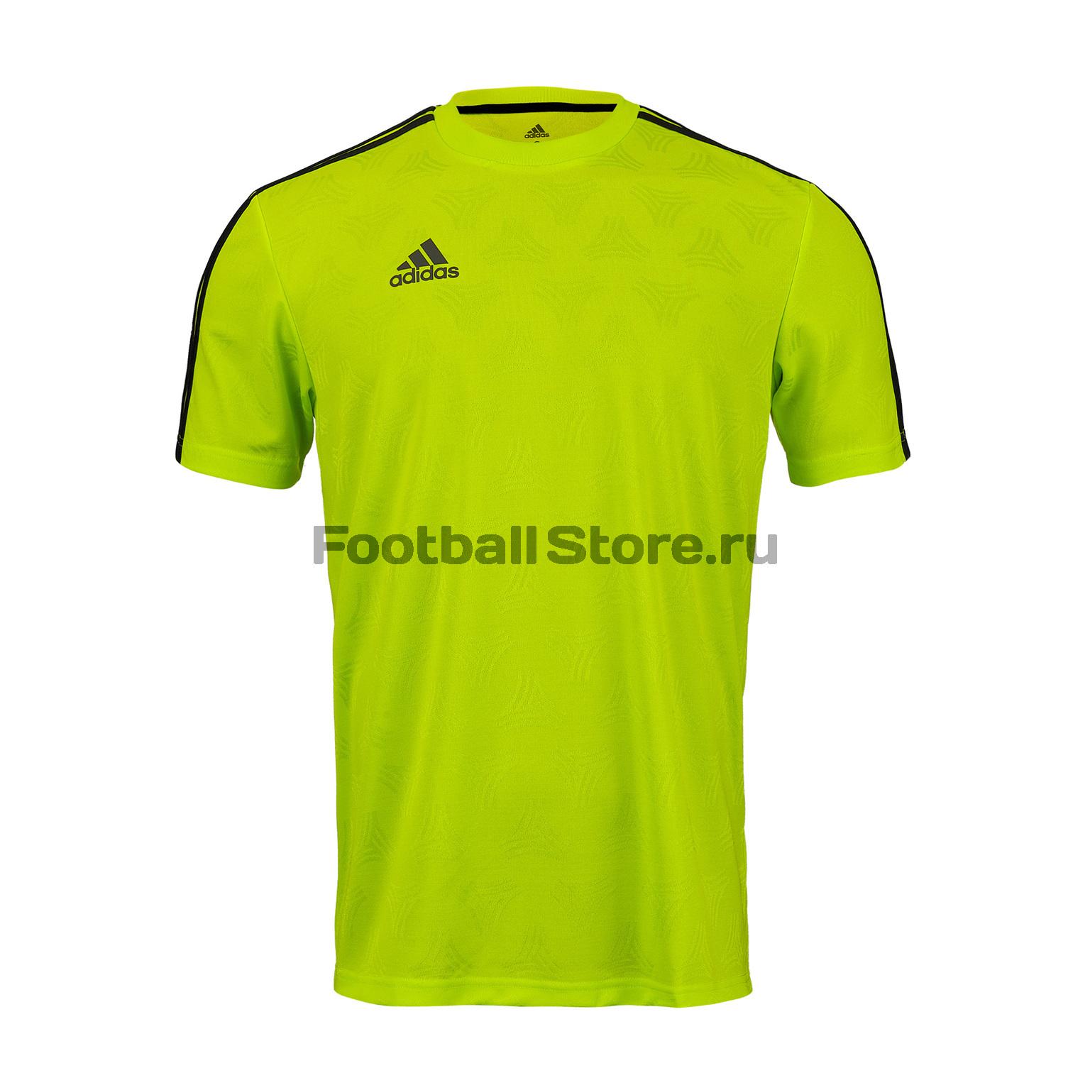 цена Футболка тренировочная Adidas Tan Jacquard DT9425 онлайн в 2017 году