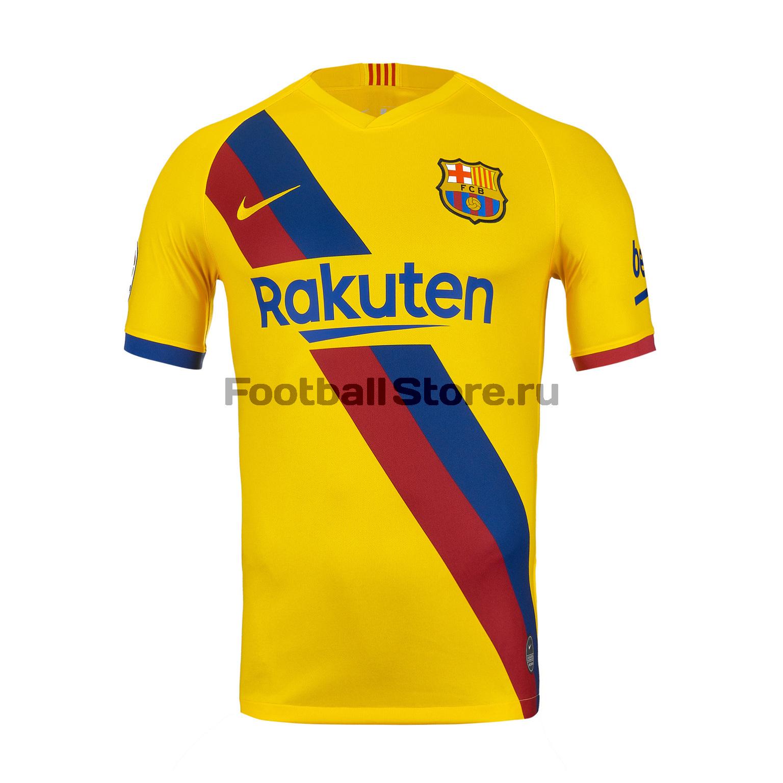 цена Футболка игровая выездная Nike Barcelona 2019/20 онлайн в 2017 году
