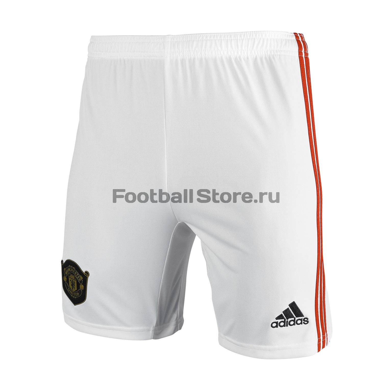 Шорты домашние подростковые Adidas Manchester United 2019/20 шорты тренировочные adidas manchester united 2019 20